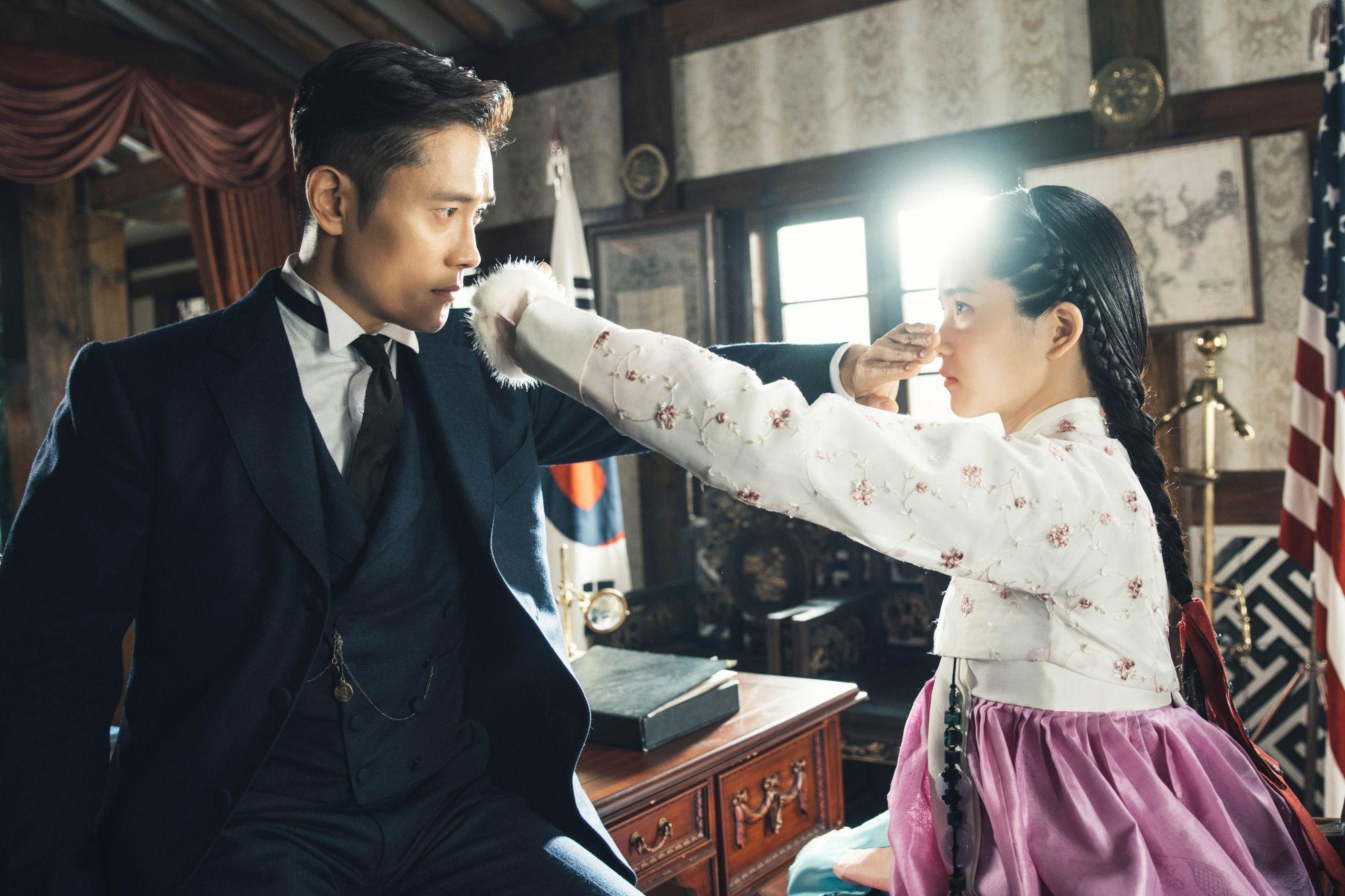 Lee Byung-hun and Kim Tae-ri in Mr. Sunshine. (Photo Courtesy of Hwa&Dam/Netflix)