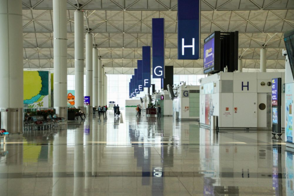 Hong Kong International Airport during the Covid pandemic, October 2020 (photo: Getty Images)