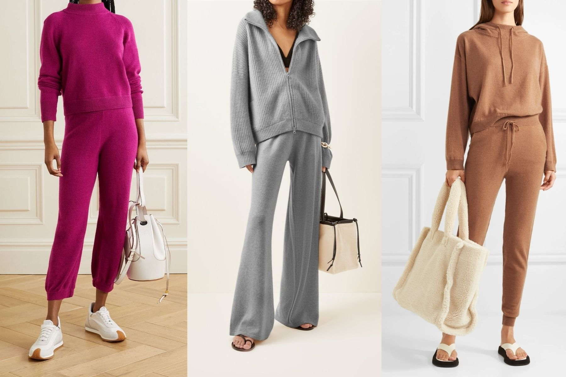 7 Cashmere Sets To Wear At Home––And Outside––This Winter