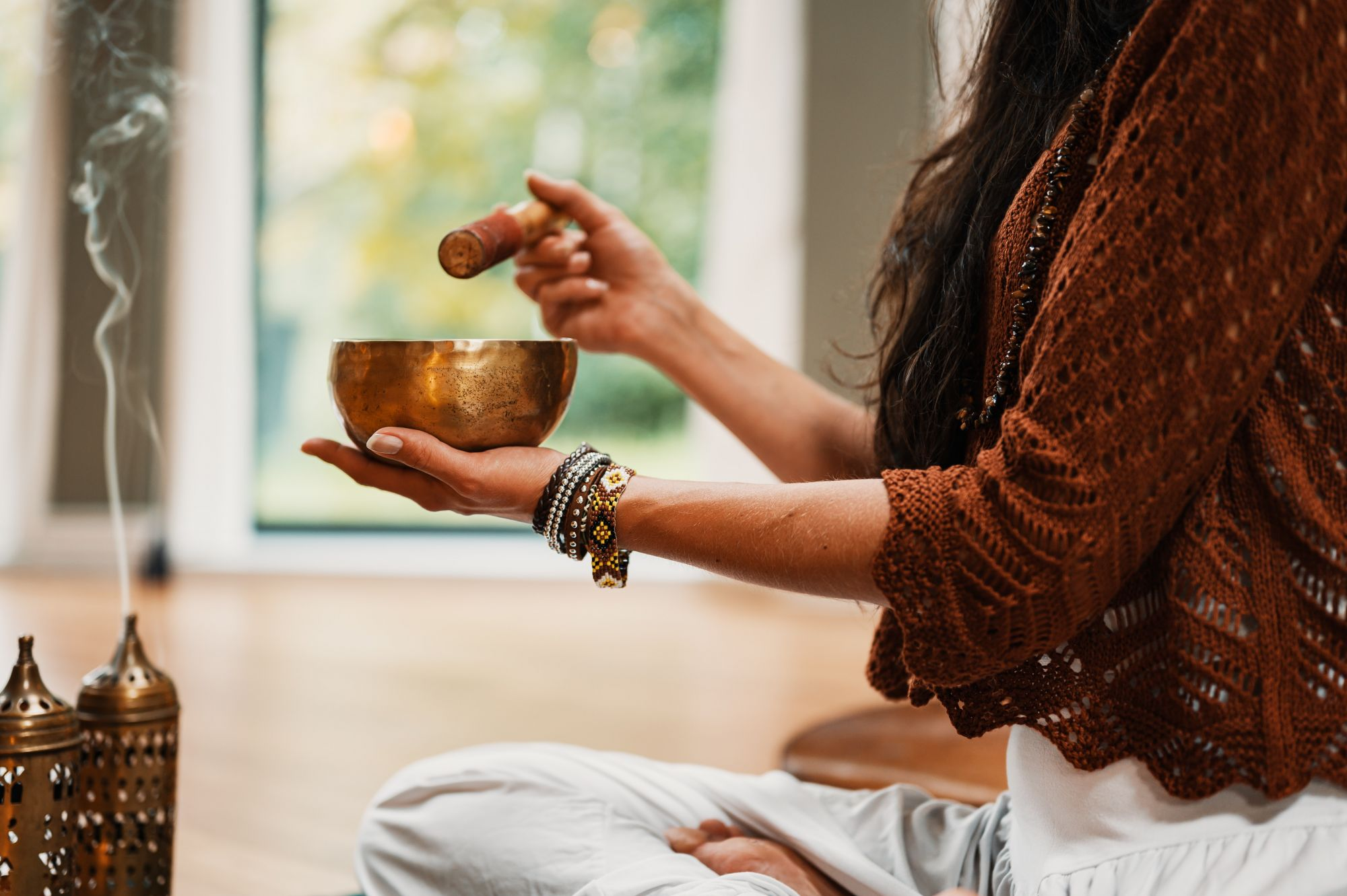 How To Build A Meditation Space At Home: Meditation Trainers, Singing Bowls & More