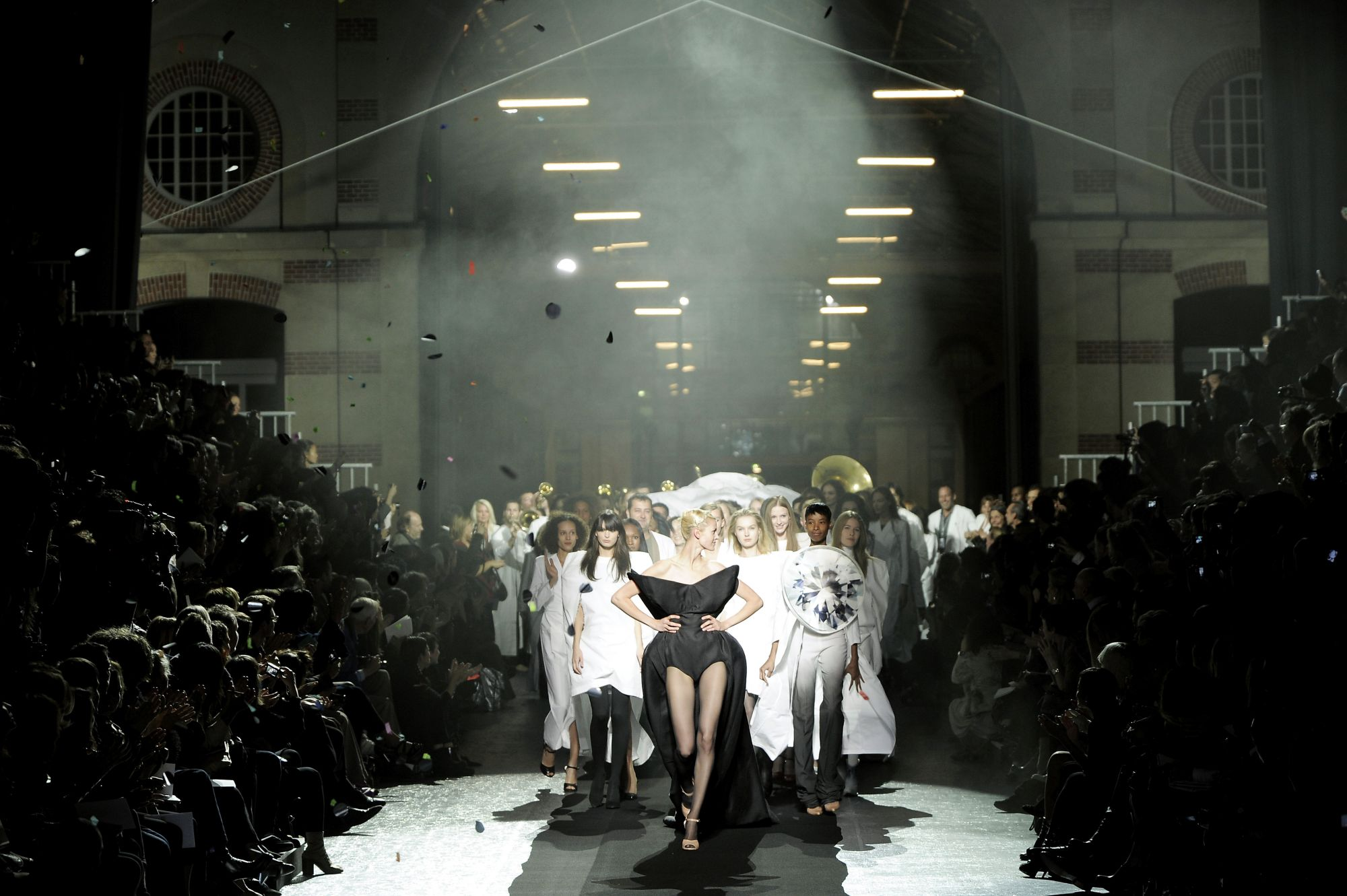 PARIS - SEPTEMBER 29:  (UK OUT) Models walk the runway during the Maison Martin Margiela show part of Paris Fashion Week Spring/Summer 2009 on September 29,2008 in Paris,France.  (Photo by Karl Prouse/Catwalking/Getty Images)
