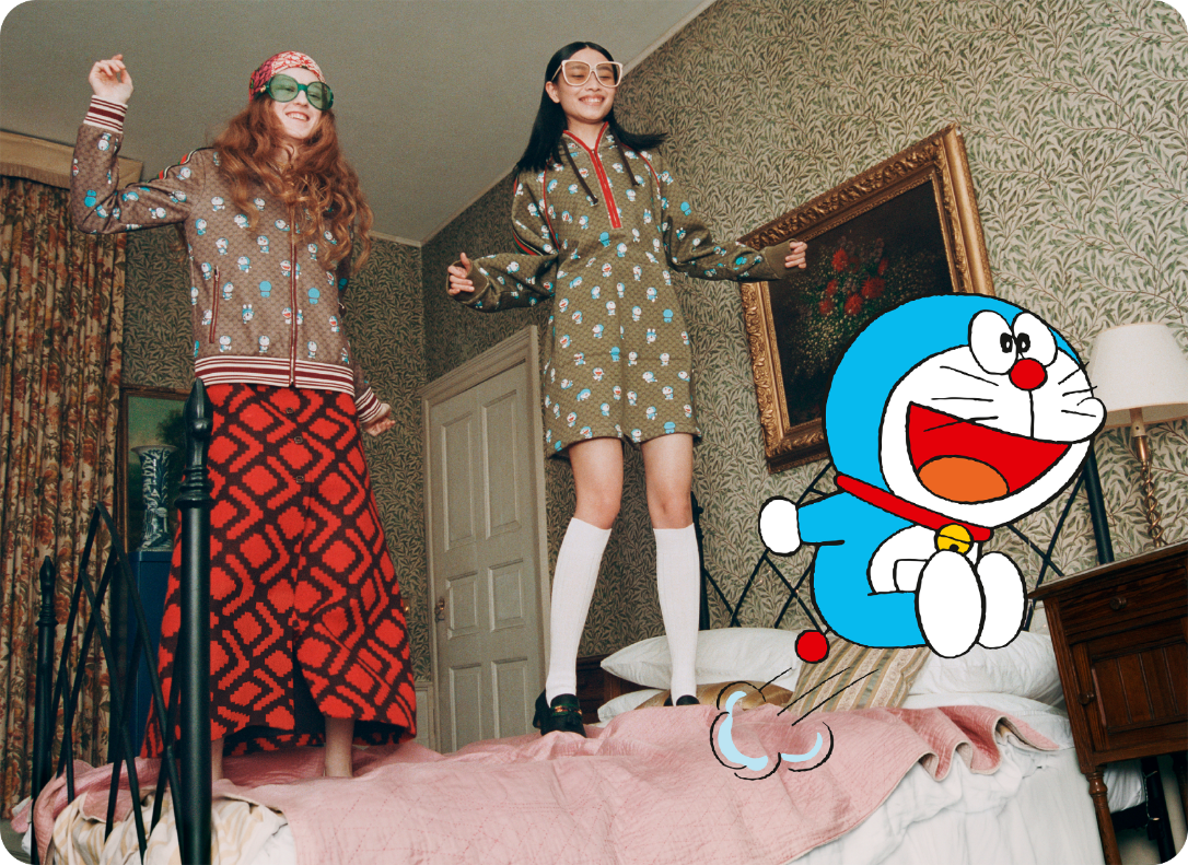 Gucci Launches Doraemon Special Collection For Chinese New Year 2021