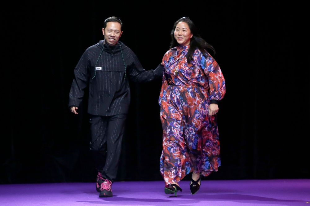 Humberto Leon and Carol Lim at their Kenzo runway show in 2019 (photo: Getty Images)