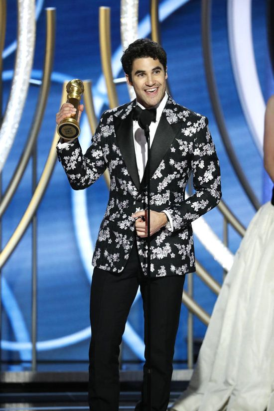 76th ANNUAL GOLDEN GLOBE AWARDS -- Pictured: Darren Criss, winner of Best Actor - Limited Series or Picture Made for Television at the 76th Annual Golden Globe Awards held at the Beverly Hilton Hotel on January 6, 2019 -- (Photo by: Paul Drinkwater/NBC)