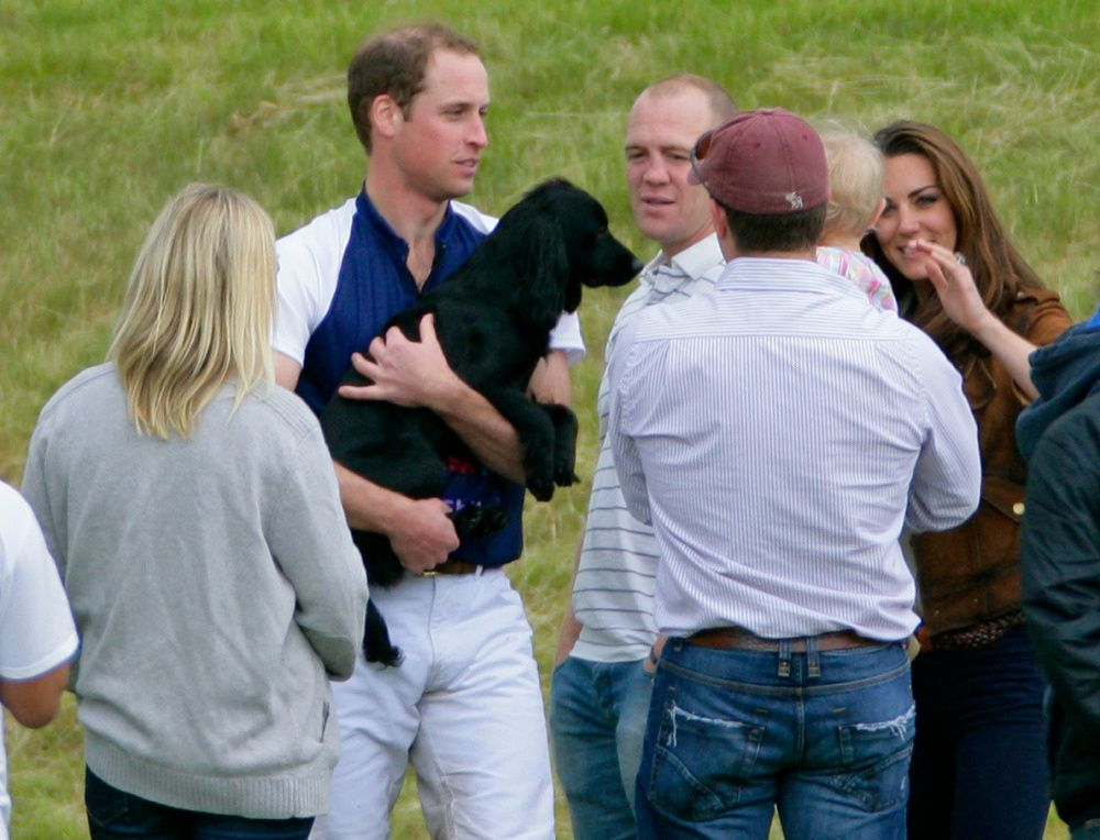 Prince William and Kate Middleton's dog Lupo passed away in late 2020; here, they are seen in 2012 (photo: Getty Images)