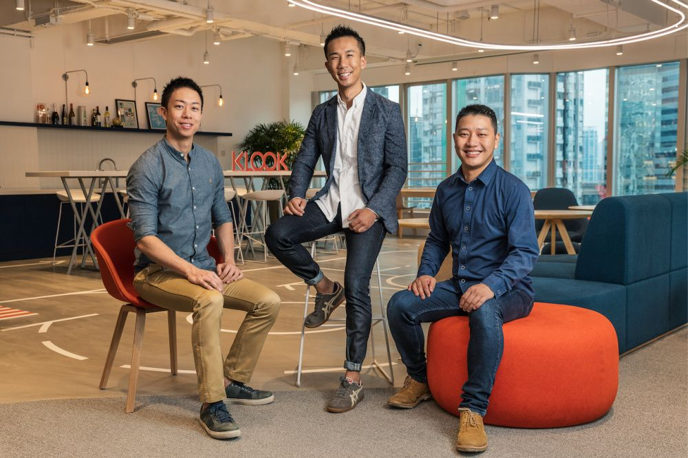 Klook co-founders (L-R) Eric Gnock Fah, Ethan Lim, Bernie Xiong (photo: Courtesy Klook)