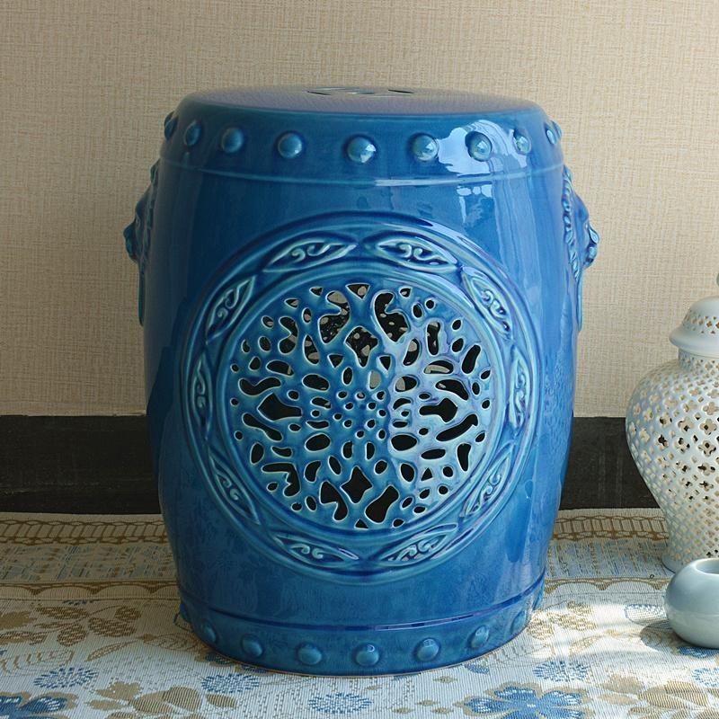 staunton & henry BLUE CHINESE CERAMIC GARDEN STOOL