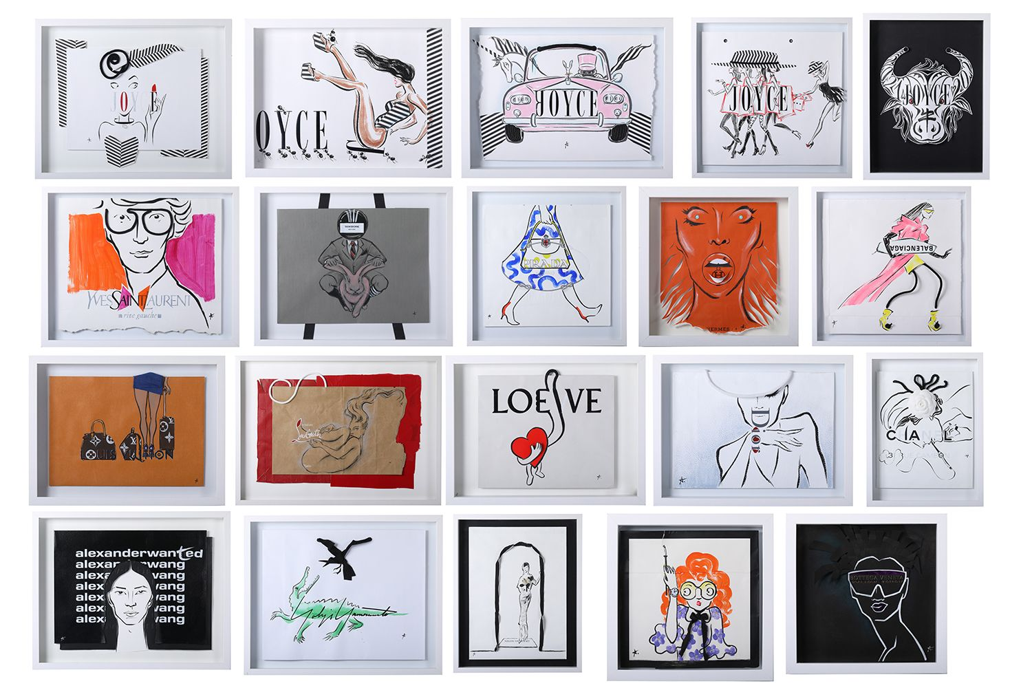 Joyce x Antoine Kruk Exhibition Reimagines Designer Shopping Bags As Art Pieces