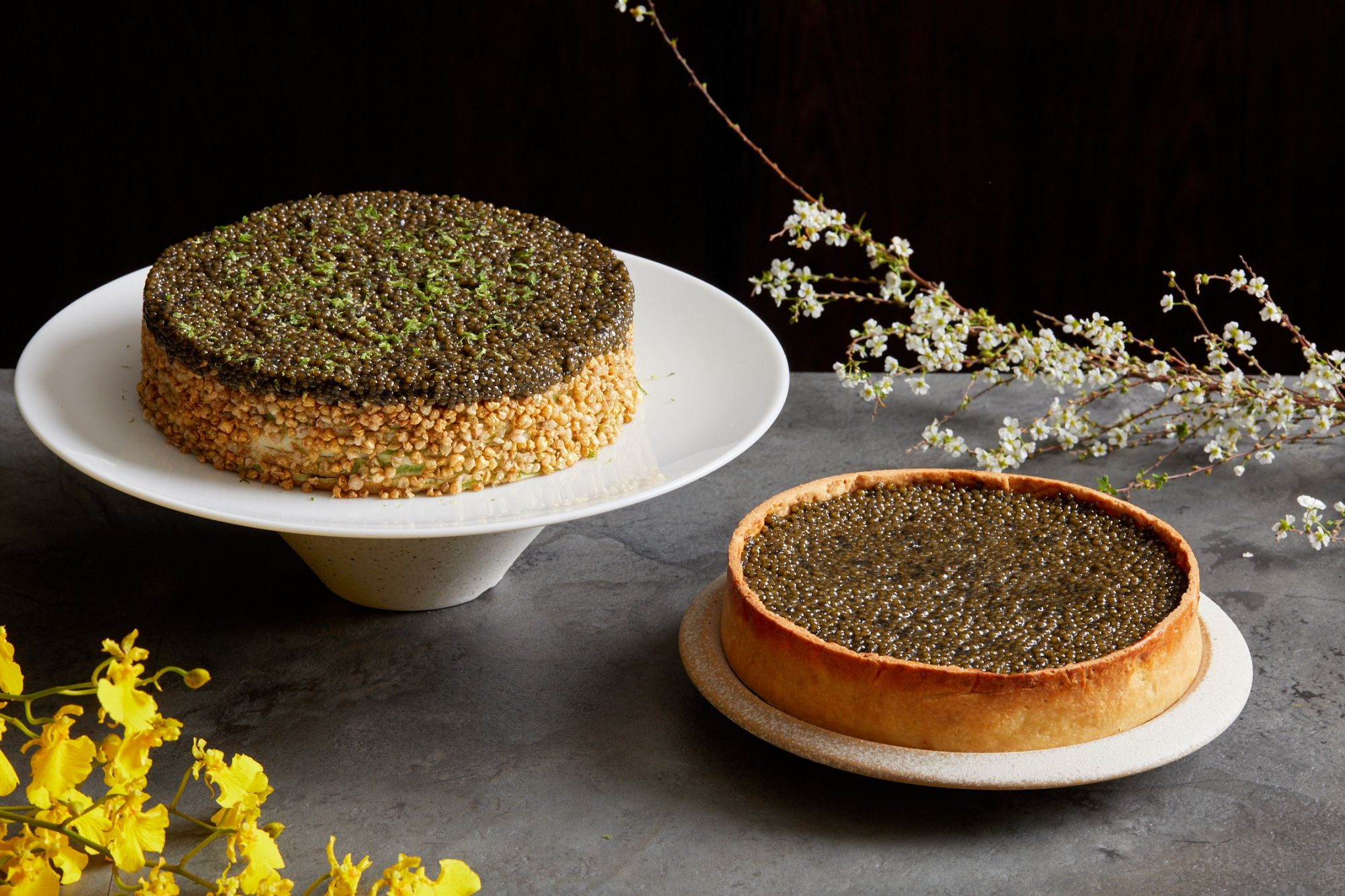 Tatler Unlisted: A Decadent Caviar Cake by Mono and Nomad Caviar