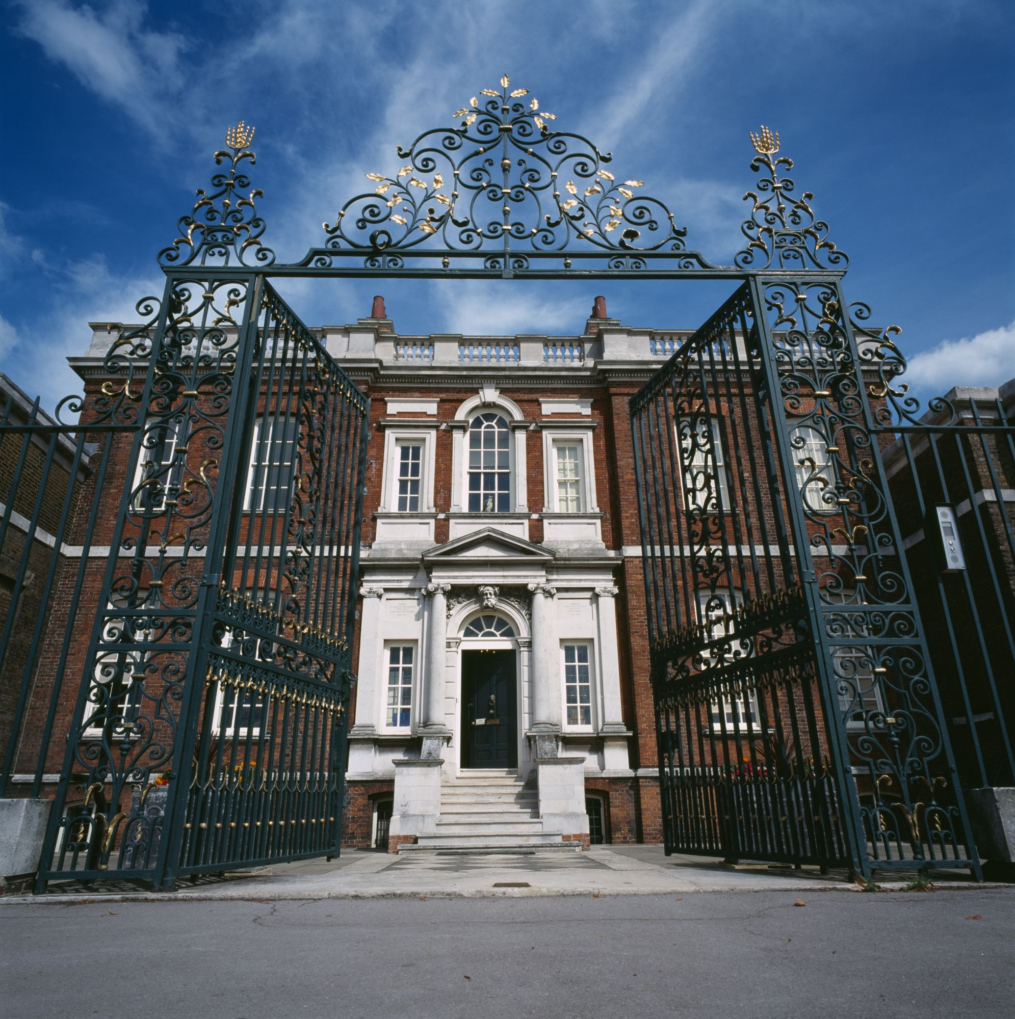 Ranger's House, Blackheath, London, c2000s(?). A view of the front of the house through the gates. Ranger's House is an elegant Georgian villa built in 1723 for the Ranger of Greenwich Park. Artist: John Wyand. (Photo English Heritage/Heritage Images/Getty Images)