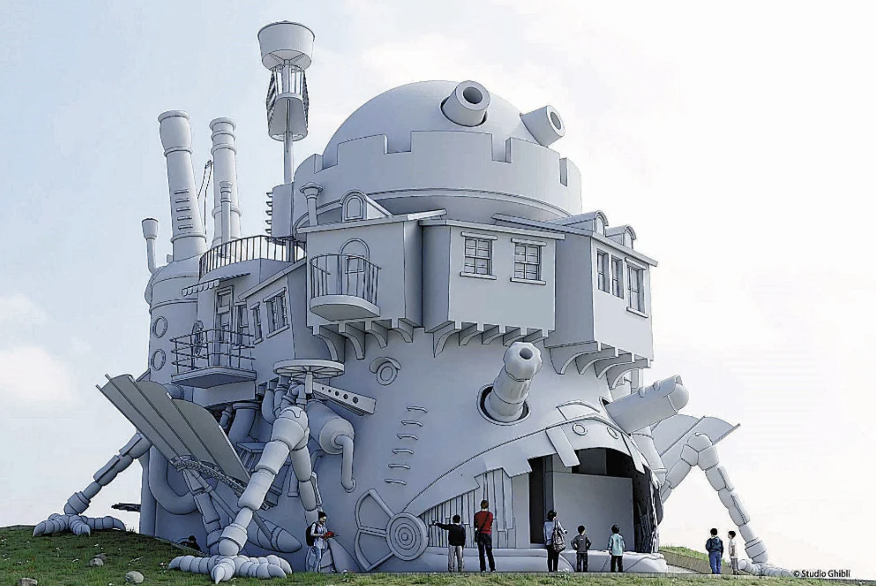 A First Look At The Real-Life Howl's Moving Castle In The Studio Ghibli Theme Park