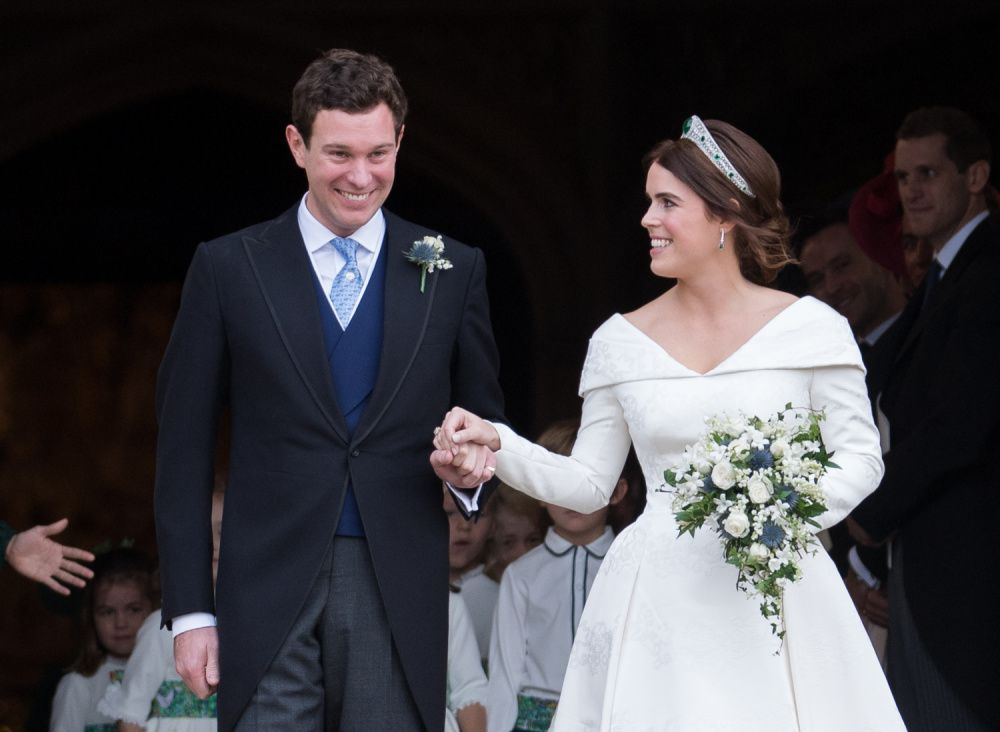 Princess Eugenie and Jack Brooksbank were married in October 2018 and have just welcomed their first baby (photo: Getty Images)