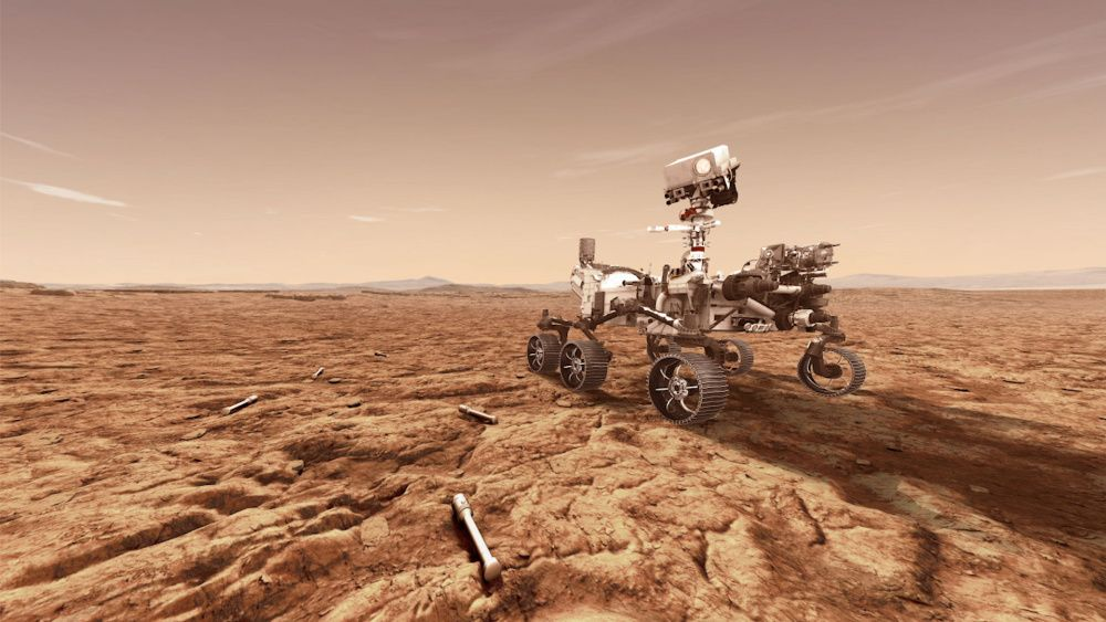 A concept illustration provided by NASA of the Perseverance Mars rover (photo: Illustration by NASA via Getty Images)