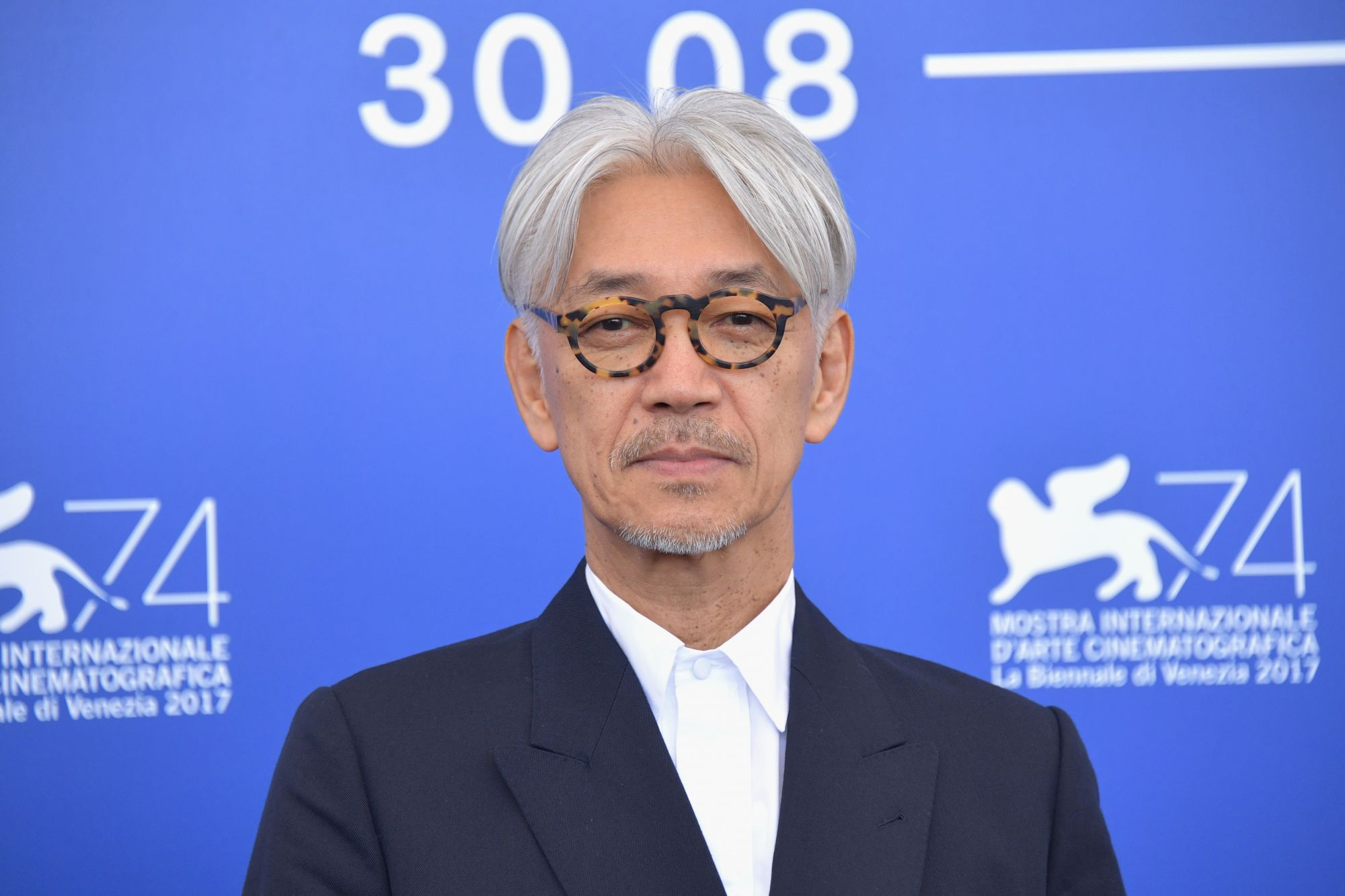 VENICE, ITALY - SEPTEMBER 03:  Ryuichi Sakamoto attends the 'Ryuichi Sakamoto: Coda' photocall during the 74th Venice Film Festival at Sala Casino on September 3, 2017 in Venice, Italy.  (Photo by Dominique Charriau/WireImage)