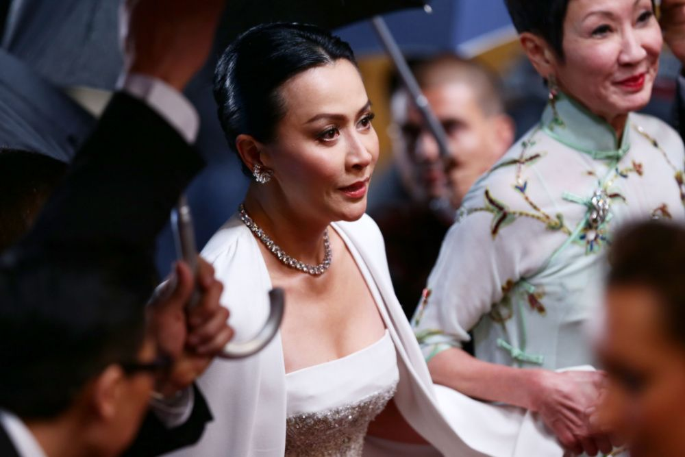 Legendary Hong Kong actress Carina Lau attends the 'Bends' premiere at the Cannes Film Festival in 2013 (Photo by Vittorio Zunino Celotto/Getty Images)