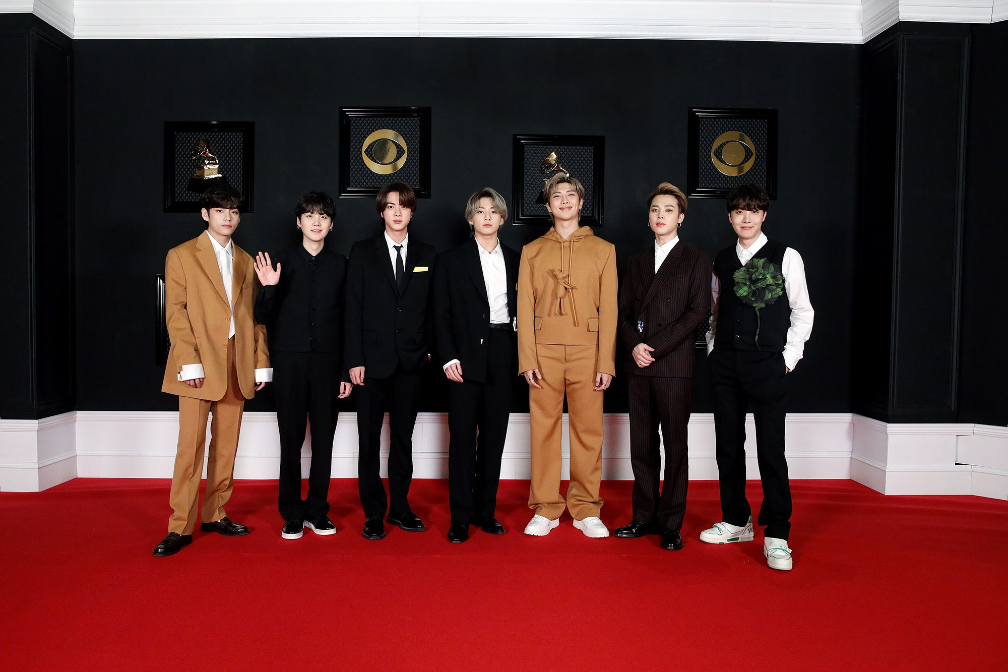 Grammys 2021: BTS Rocks The Red Carpet With Custom Louis Vuitton Suits