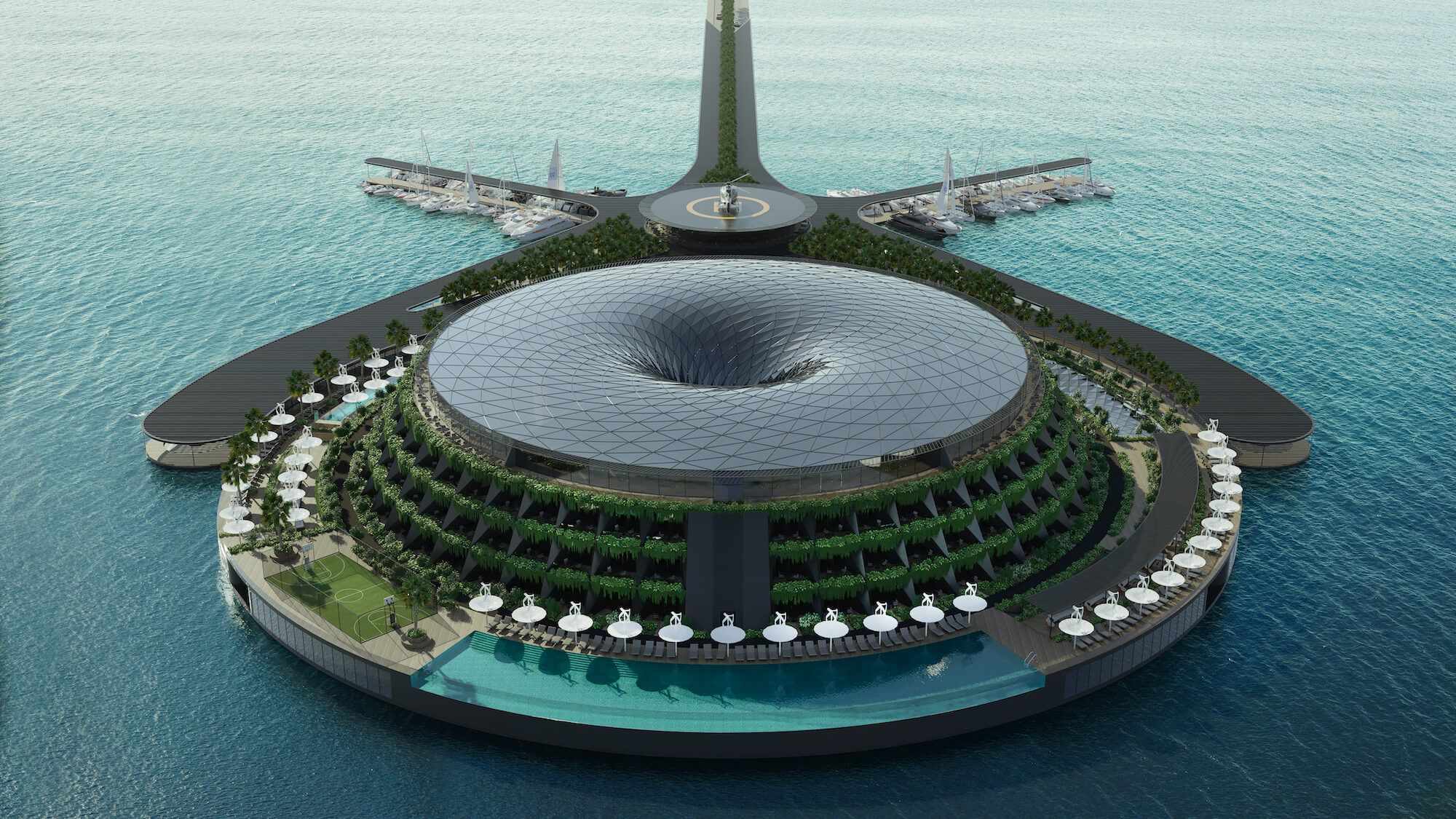 Qatar Plans To Build A Floating Eco-Luxury Hotel As Soon As 2025