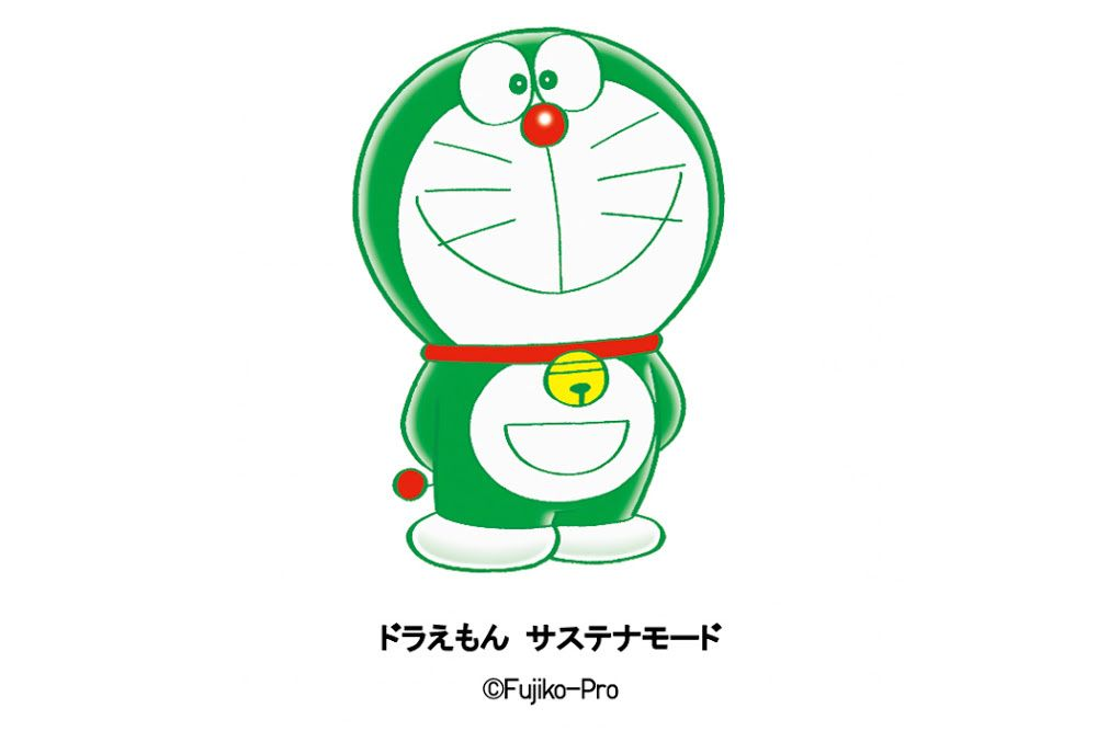 Doraemon turns green for a new partnership with Uniqlo (photo: Courtesy)