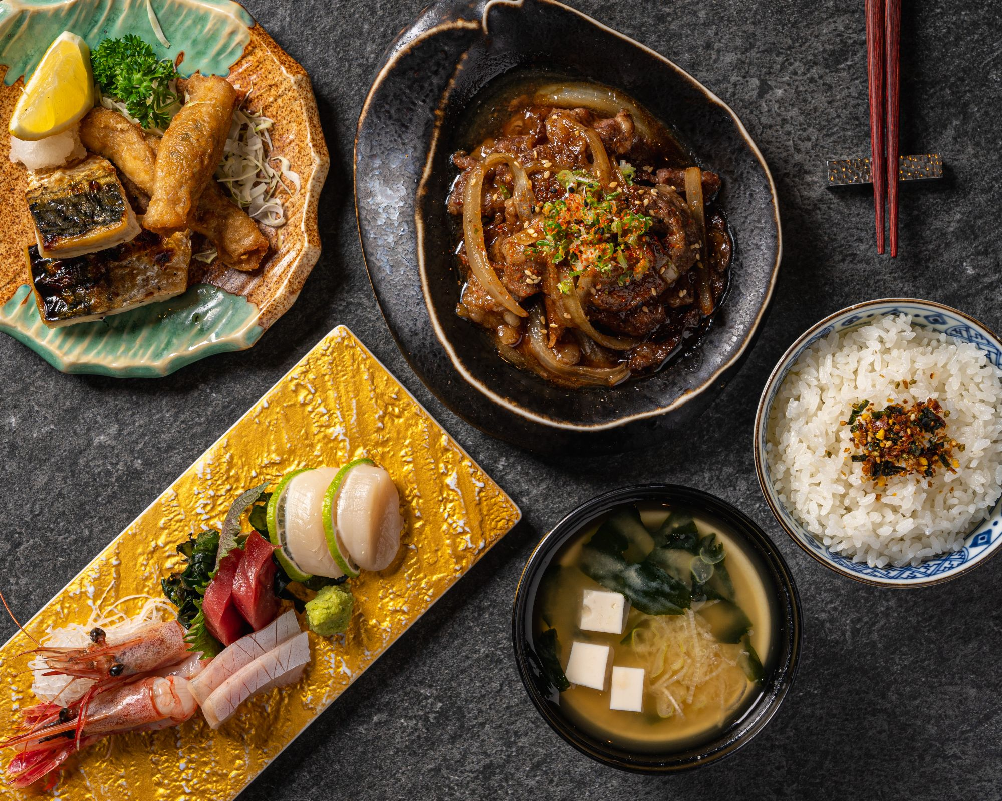 Build Your Own Lunch Set At Fumi