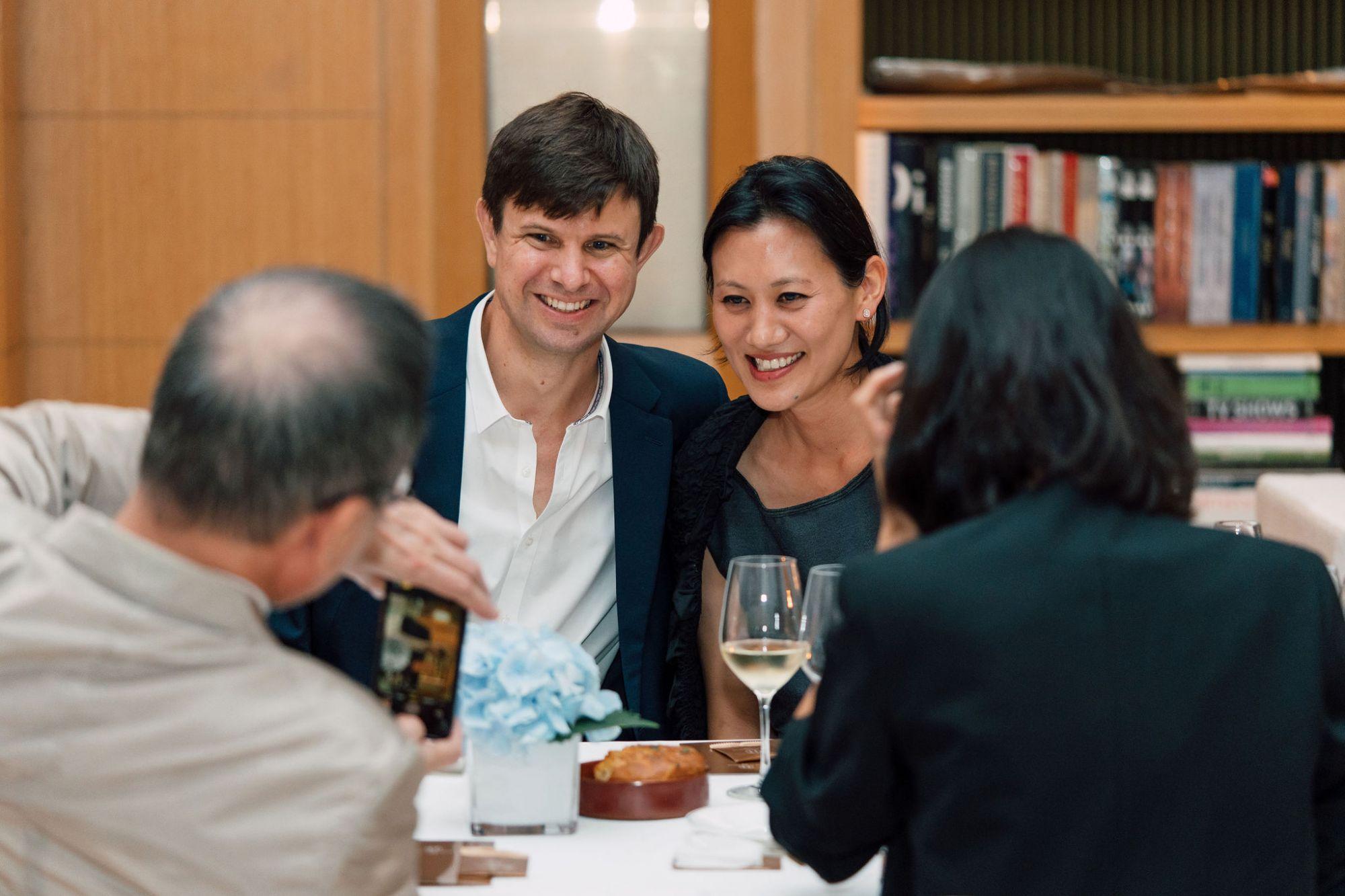 Eric Schuldenfrei and Marisa Yiu