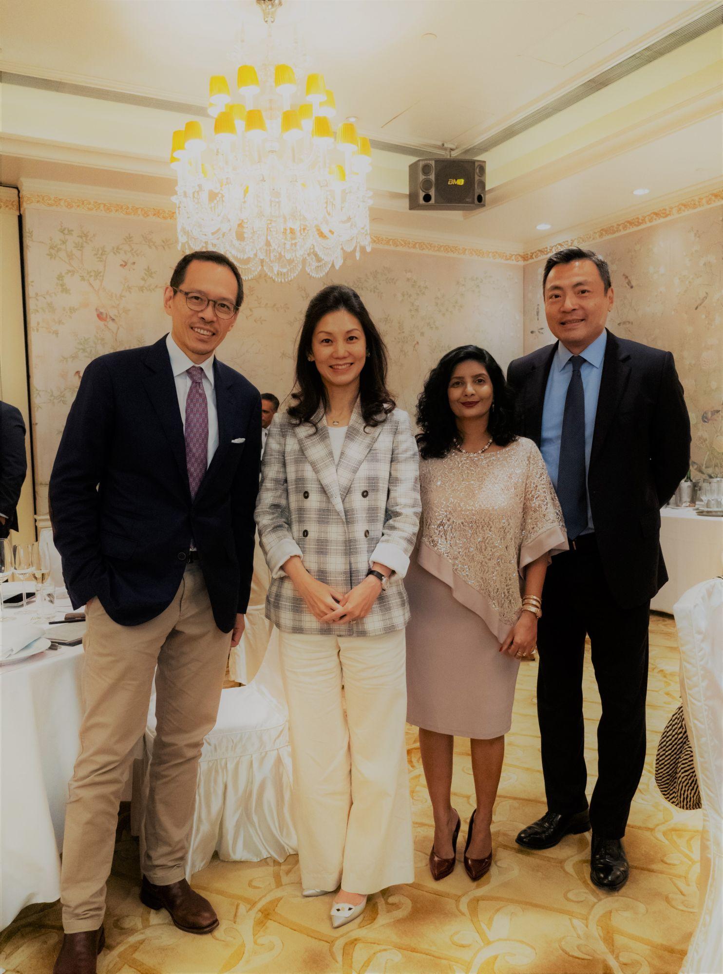 Jonathan Cheng, Christina Gaw, Aradhna Dayal and Kevin Lam