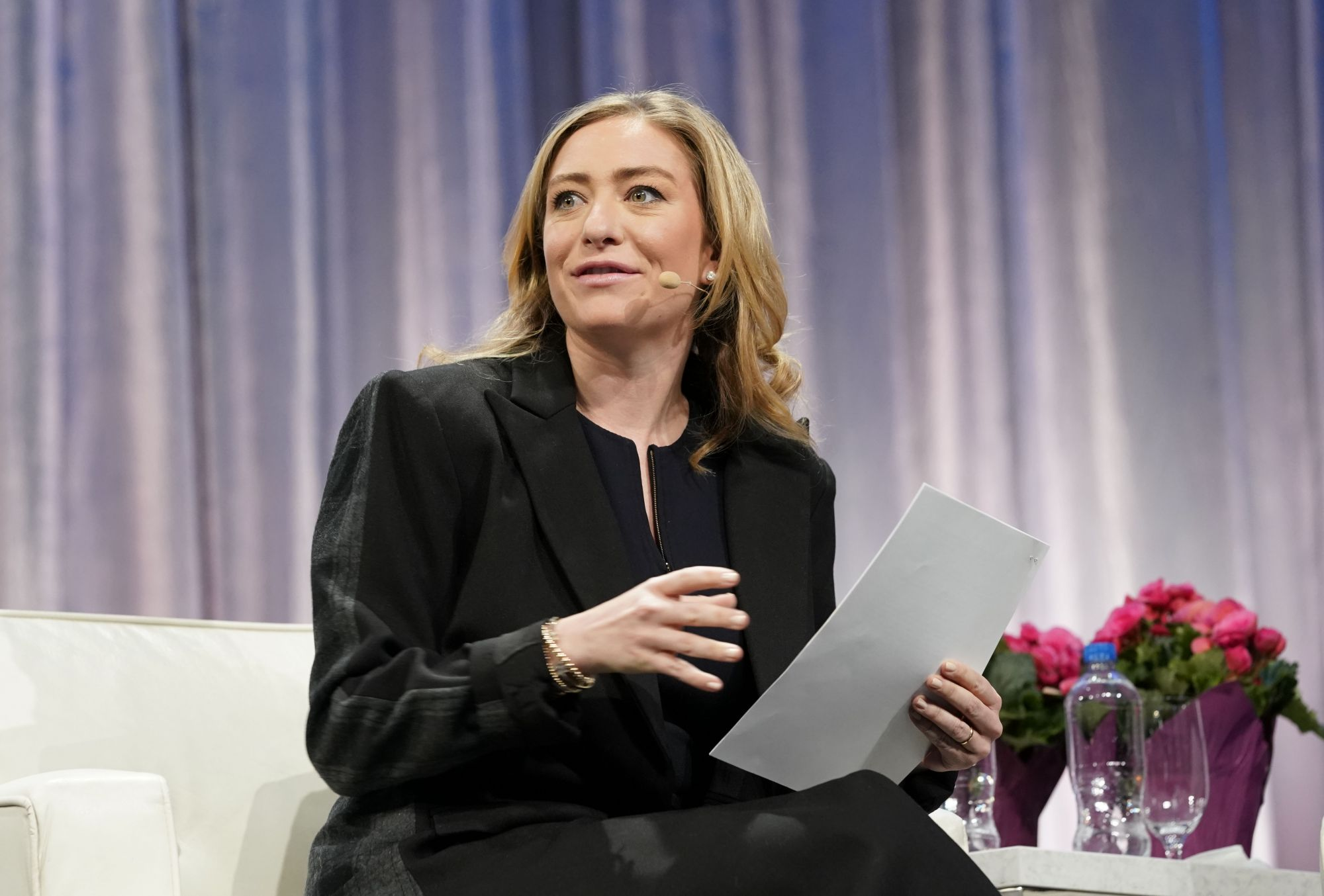 SAN JOSE, CALIFORNIA - FEBRUARY 22: Whitney Wolfe Herd, Founder and CEO of Bumble speaks on stage during keynote conversation at 2019 Watermark Conference for Women Silicon Valley at San Jose McEnery Convention Center on February 22, 2019 in San Jose, California. (Photo by Marla Aufmuth/WireImage)