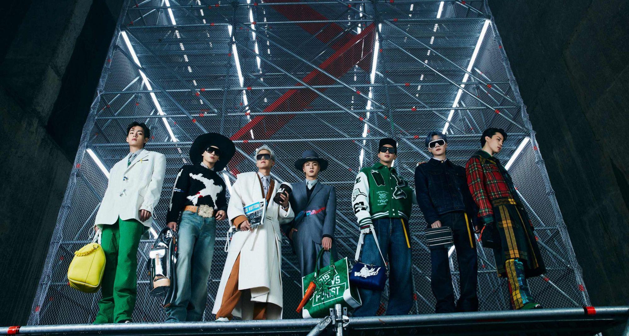 BTS Graces Louis Vuitton Men's FW21 Show In Seoul As House Ambassadors