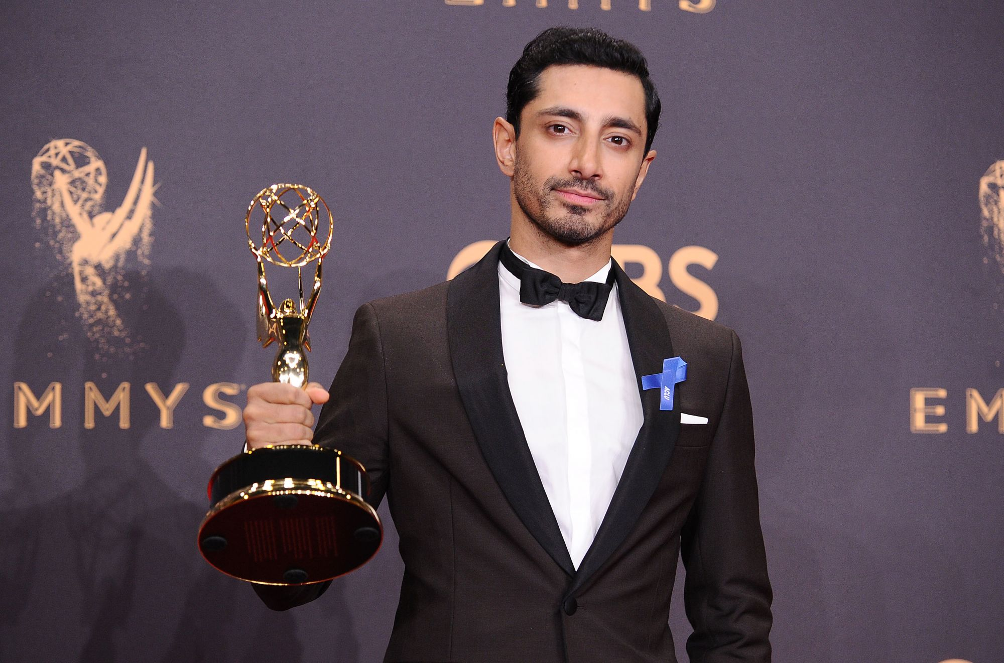 LOS ANGELES, CA - SEPTEMBER 17:  Actor Riz Ahmed poses in the press room at the 69th annual Primetime Emmy Awards at Microsoft Theater on September 17, 2017 in Los Angeles, California.  (Photo by Jason LaVeris/FilmMagic)