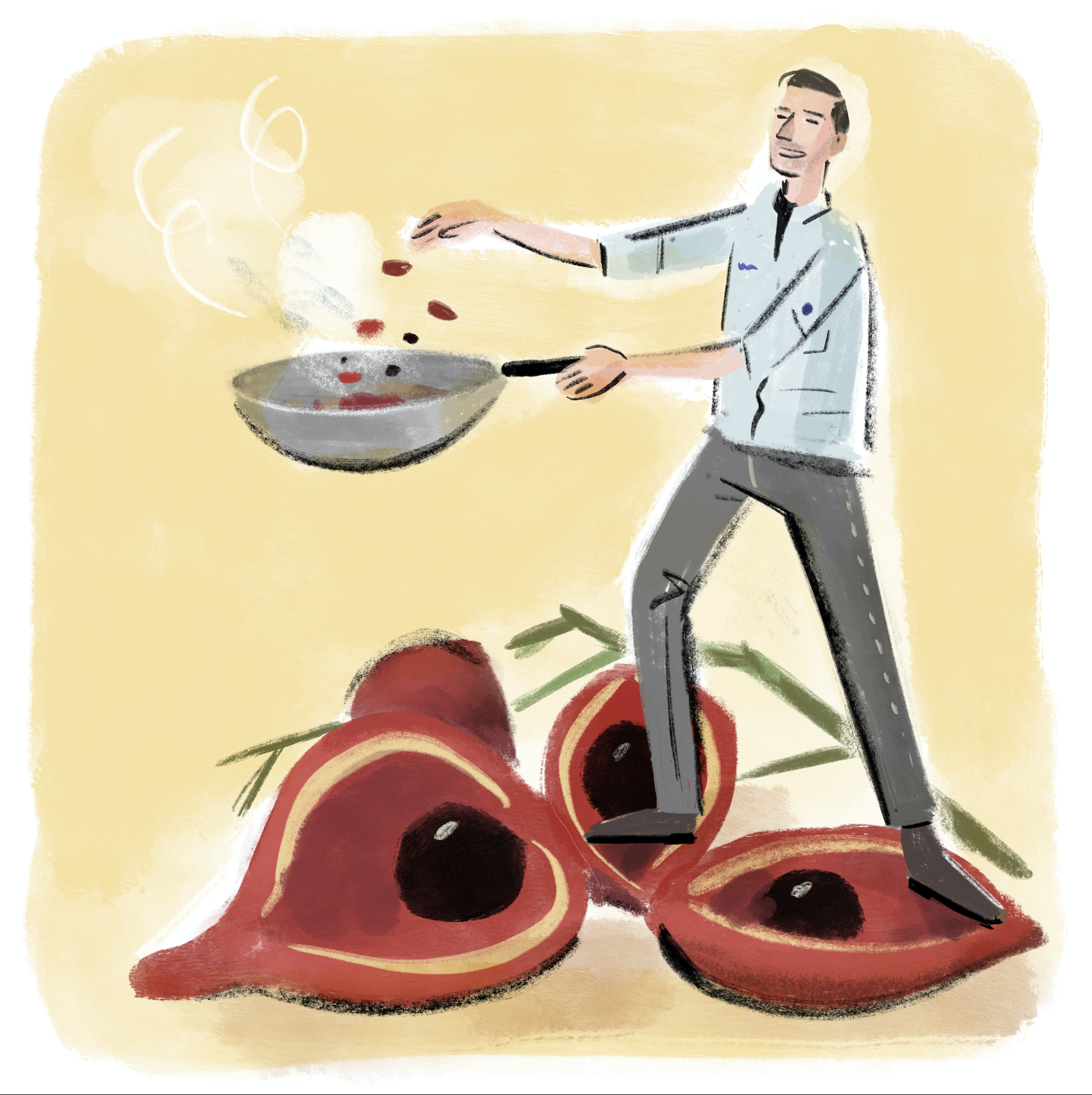 Phoenix eye nuts are one of Max Levy's favourite ingredients (Illustration: Stephen Collins)