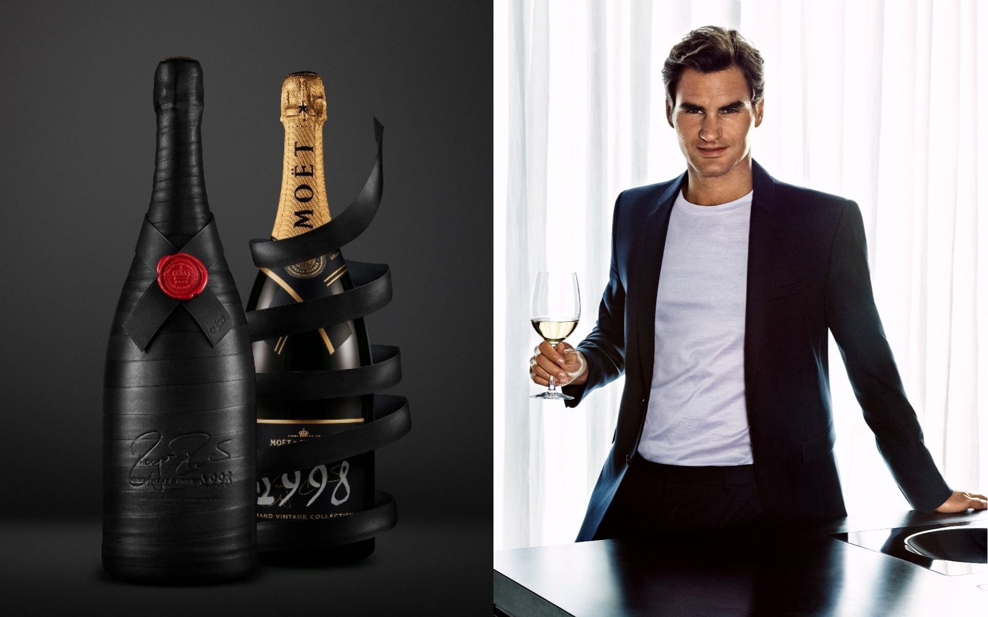 This Special Edition Moët & Chandon Champagne Celebrates Roger Federer's Legendary Tennis Career