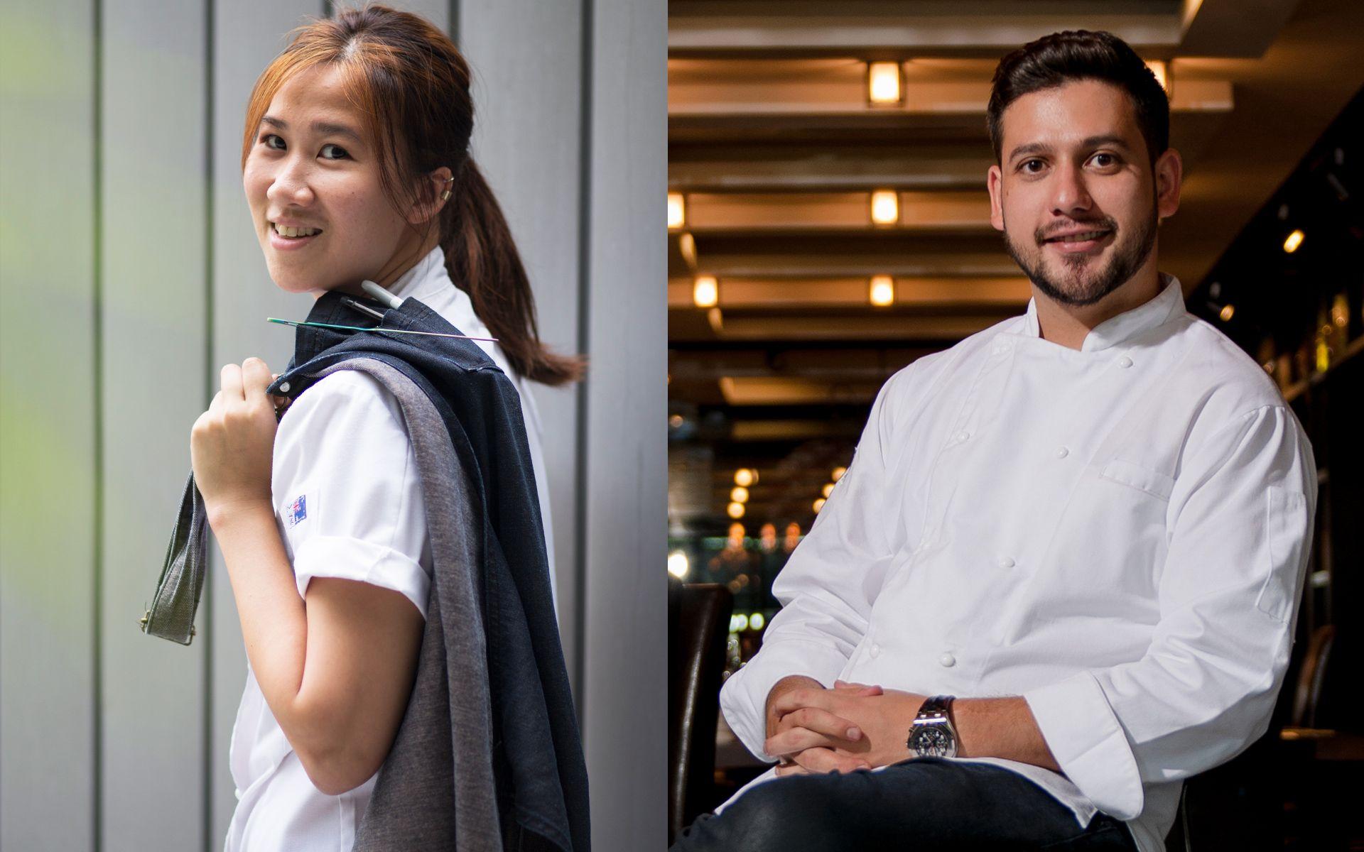 Jun Wong, Chef de Cuisine of Kikubari, and celebrity chef Nik Michael Imran. Photo: Shaffiq Farhan/Malaysia Tatler and Chef Nik.