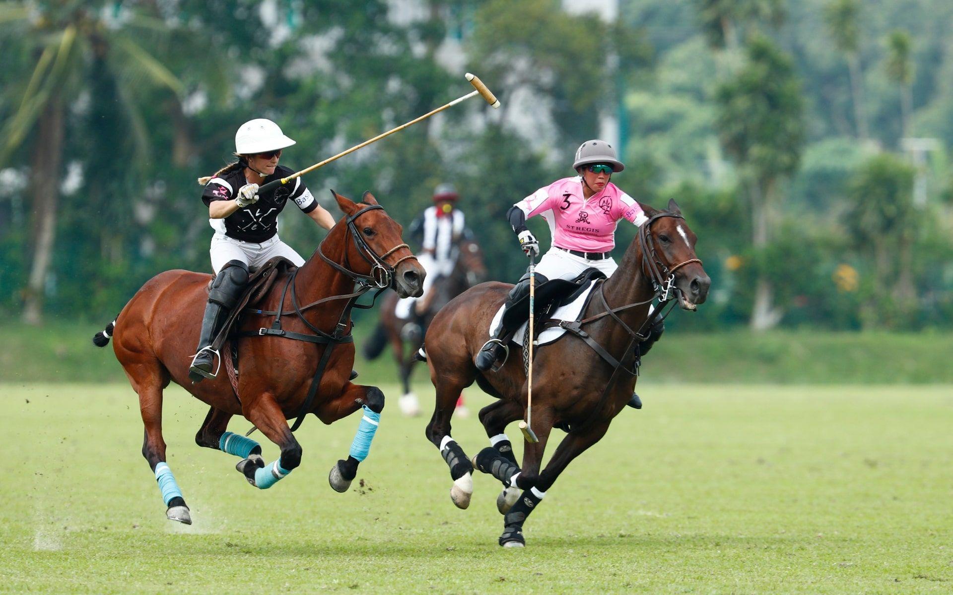 Lia Salvo of Le Tu Polo Team vs Princess Azemah Ni'matul Bolkiah of The St Regis Polo Team
