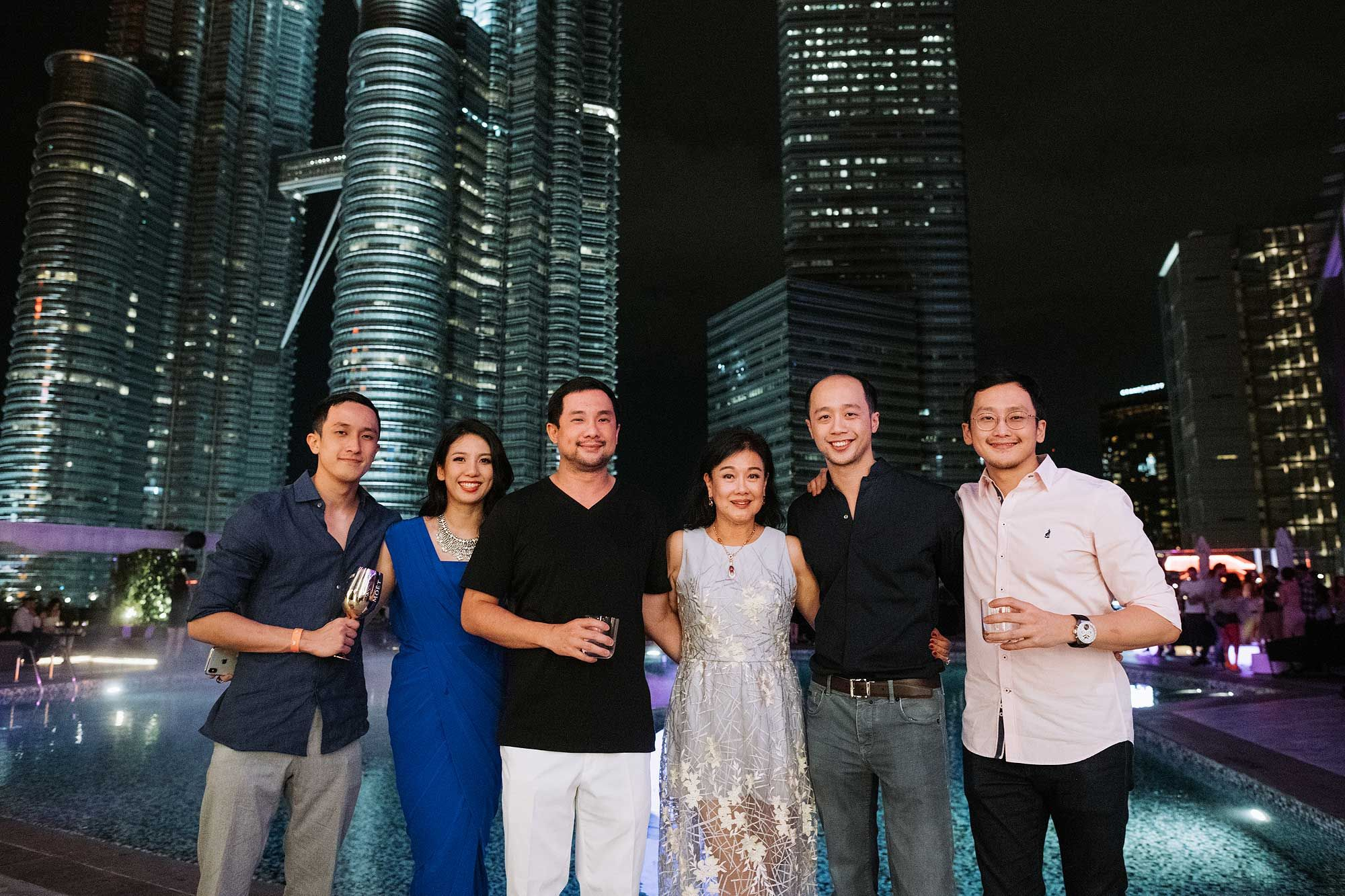 Din Tan, Diana Tan, Dato' Dickson Tan, Puan Sri Ivy Tan, Dion Tan and Dillon Tan