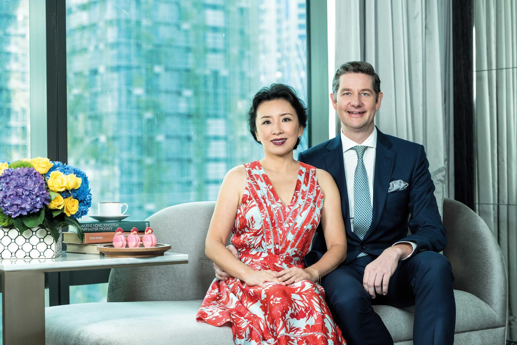 Sara and Tom Roelens at the Four Seasons Hotel and Residences Kuala Lumpur. Photo: Chris Jung/Malaysia Tatler