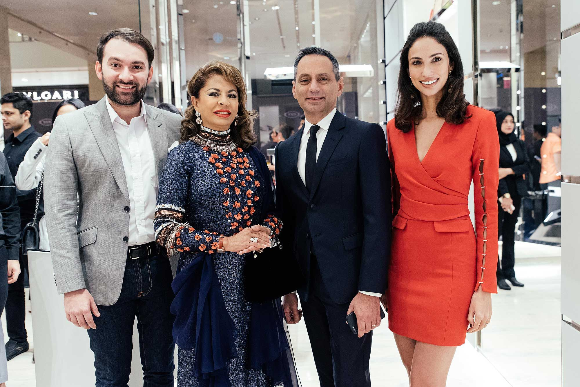 Dr Rajiv Bhanot, HRH Sultanah Kalsom of Pahang, Massimo Caltagirone and Deborah Henry