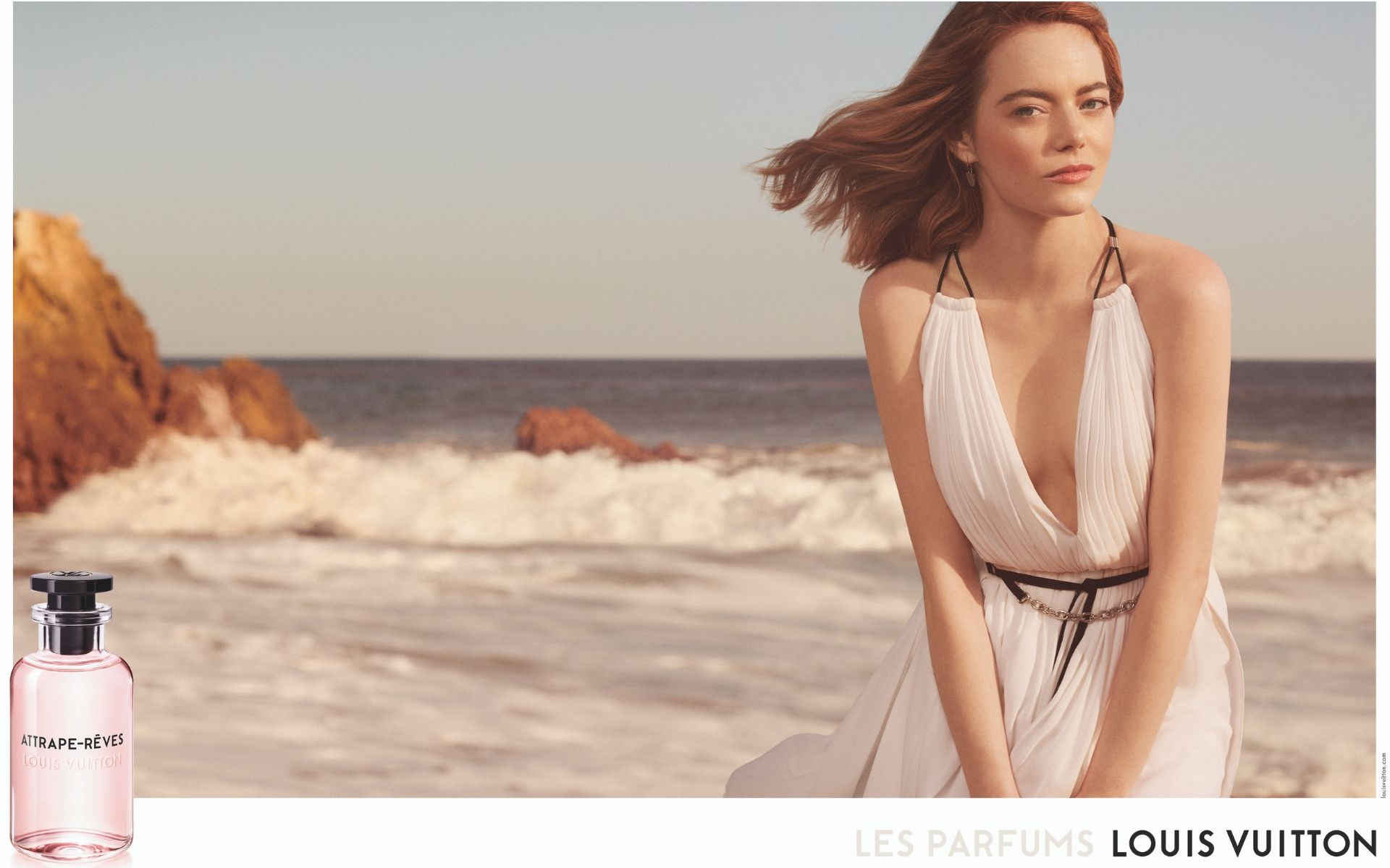 57785a225af Watch  Louis Vuitton Taps Emma Stone As The Face Of Sensational Fragrance