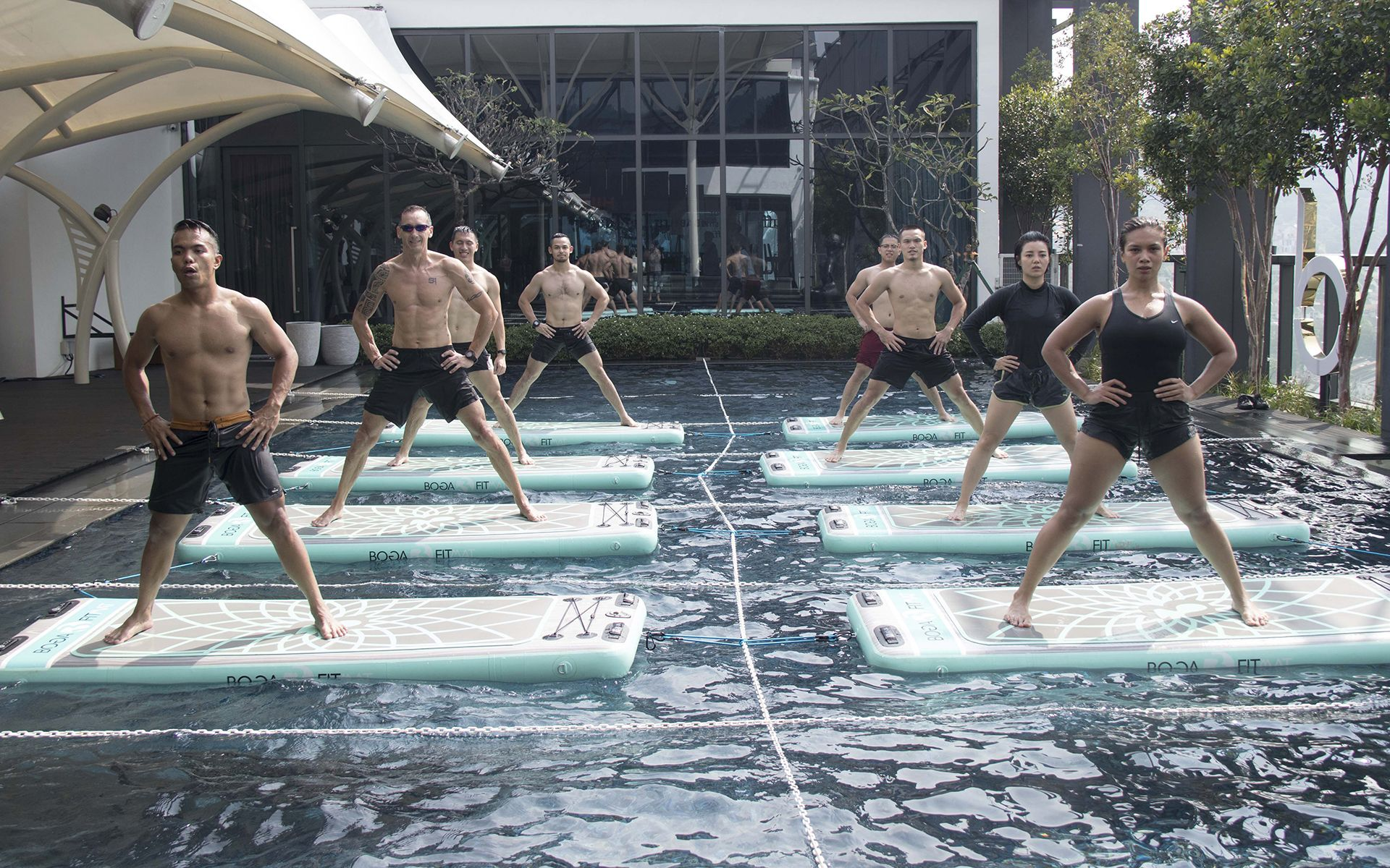 Watch: Babel Fit's Pool-Based Boga Workout Worth Getting Wet & Wild For