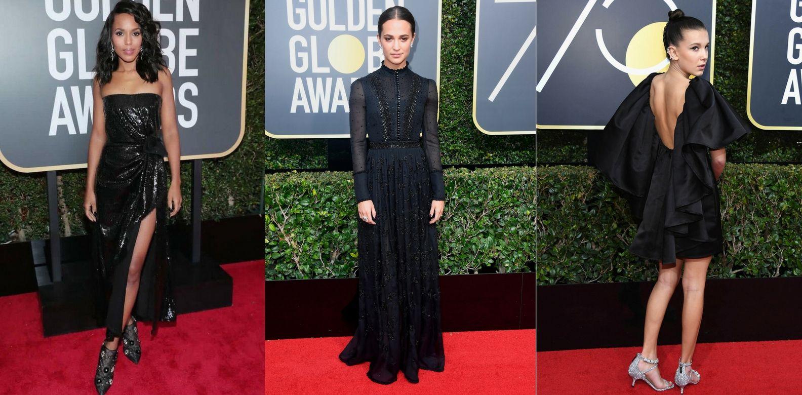 15 Best Statement Black Dresses At The Golden Globes 2018