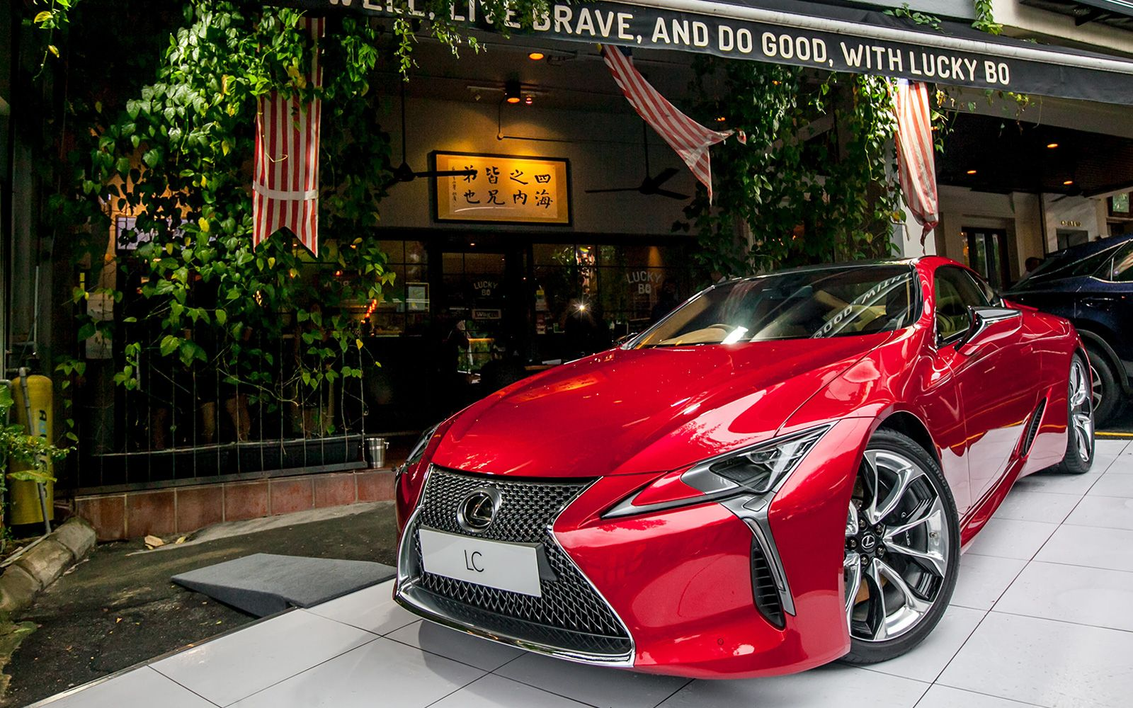 The Lexus LC 500 greeted guests out front