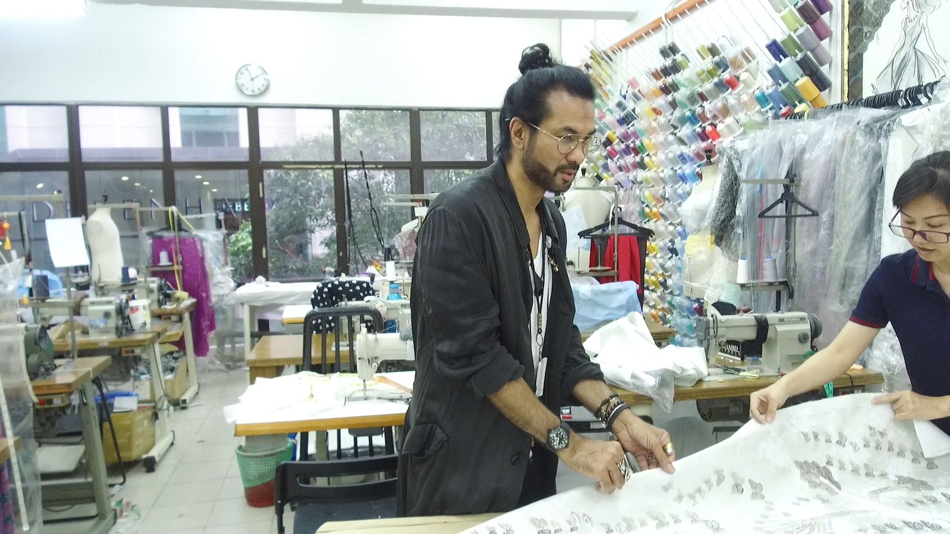 Video Exclusive: The Making Of Bernard Chandran's First Bridal Collection