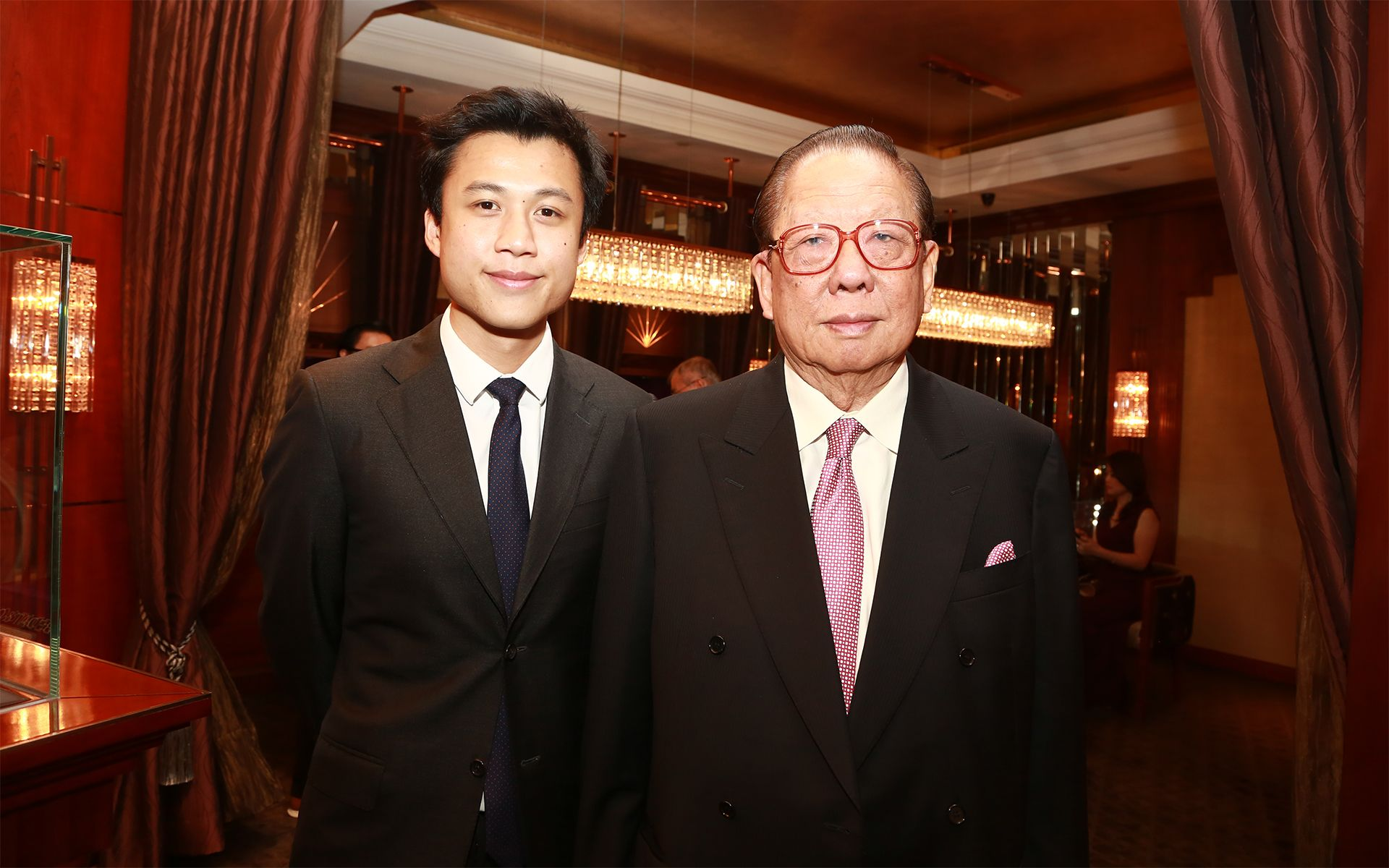 Joshua Yeoh and Tan Sri Yeoh Tiong Lay at A Journey Through Time VIII: Gala dinner hosted by Bedat & Co in December 2014