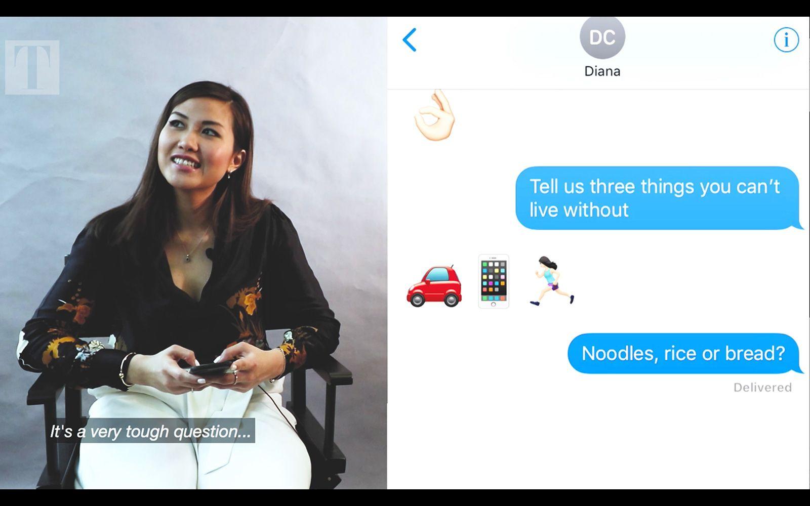 Video: Emoji Speak With MasterChef Australia Winner Diana Chan