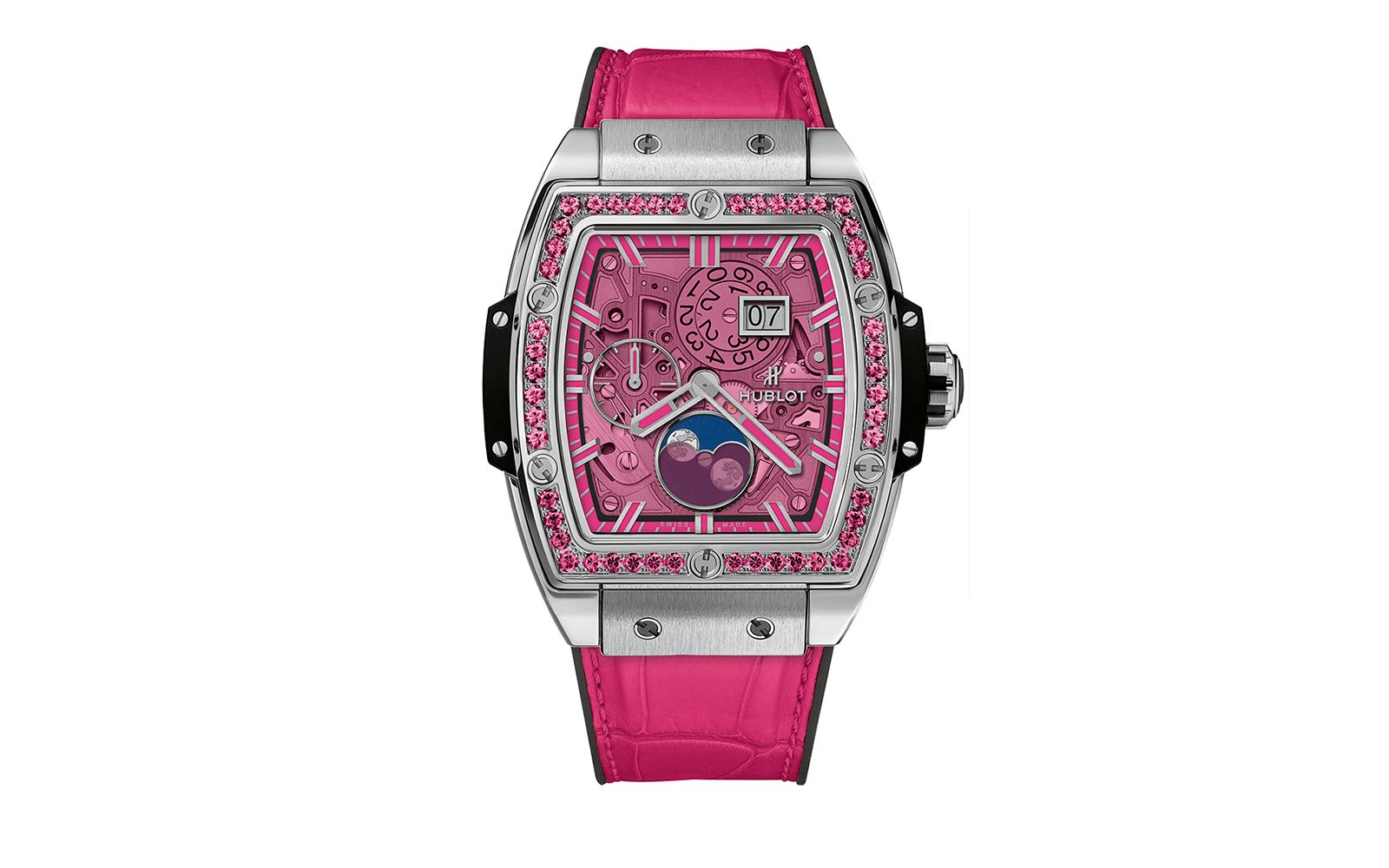 Hublot Spirit of Big Bang Moonphase in Titanium Pink (Photo: Courtesy of Hublot)