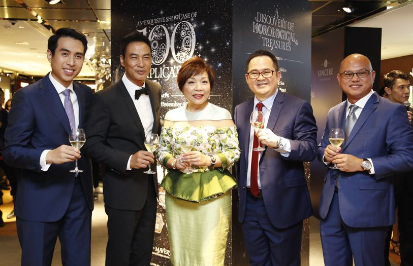 Kingston Chu, Simon Yam, Pollyanna Chu, Sincere Watch Limited CEO Ong Ban and Sincere Fine Watches Malaysia assistant GM Gary Chow