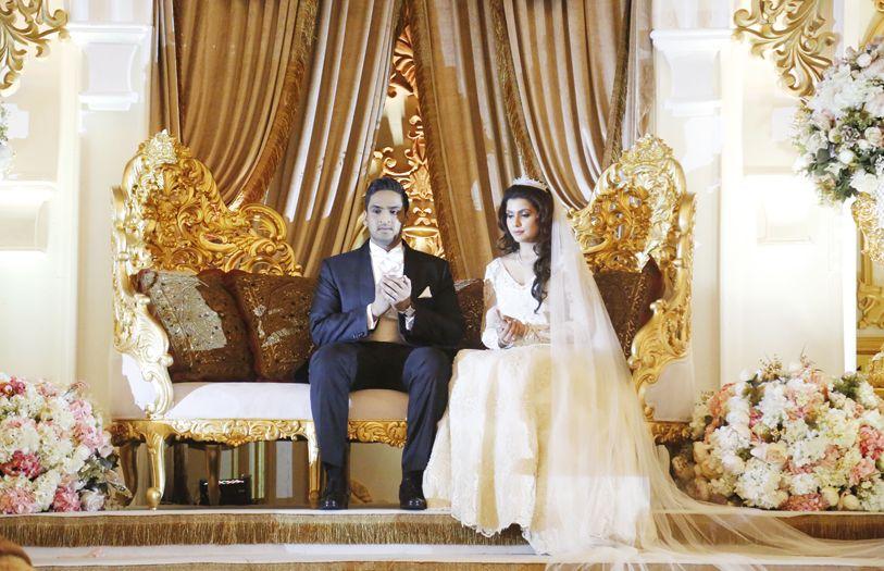 Sheikh Imran Iskandar and Syanas Yasmen Datuk Radzali - the newlyweds.