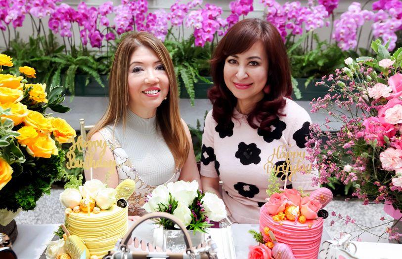 Birthday girls Lee Jim Leng and Vivienne Cheng
