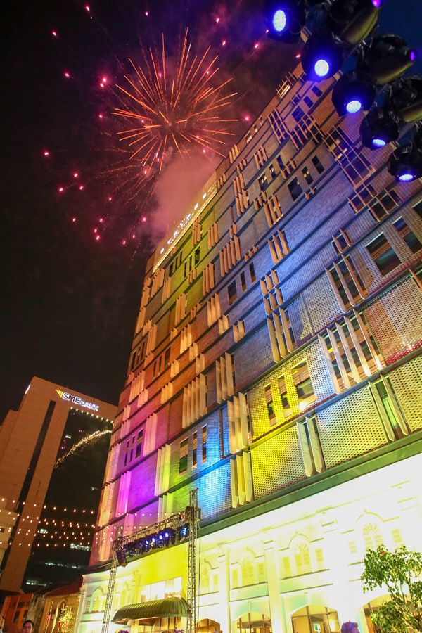 Fireworks marked the grand opening of Hotel Stripes Kuala Lumpur