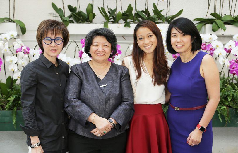 Lily Hui, Dato' Yeoh Soo Min, Rebekah Yeoh and Teoh Chu Lin
