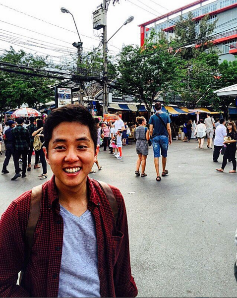 Clifford Khong was all smiles while visiting the Land of Smiles. (Photo: @mrkhong89)