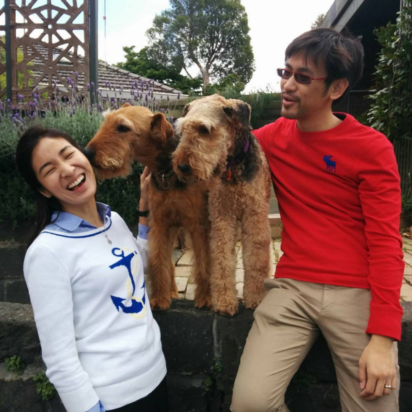 Melissa Lam and Daryl Foong made a few new furry friends while in Melbourne. (Photo: @daryl_foong)
